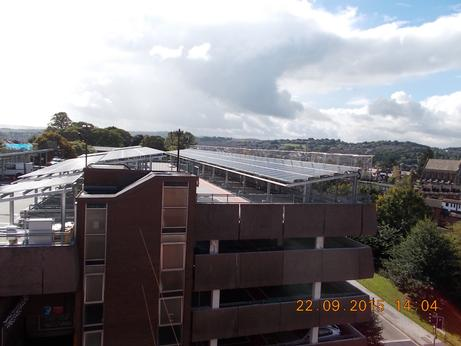 Exeter multi-storeys generating energy with solar carports