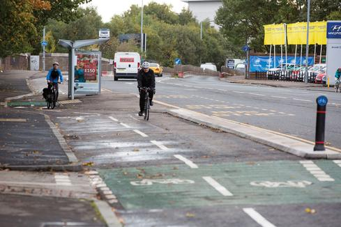 Segregated cycleway opened in Glasgow