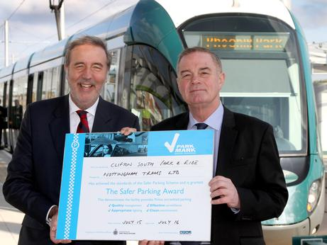 Nottingham's tram park & rides attain Park Mark status
