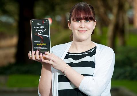 Back office team member Jessica Bruton wins ICES's Extra Mile award
