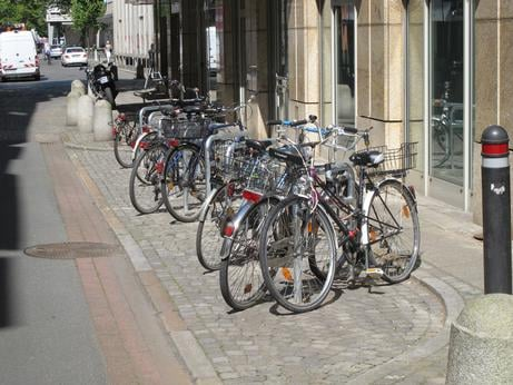 Space efficiency: 18 bicycles can be parked in a bay that could only accommodate two cars