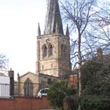 The famous crooked spire in Chesterfield