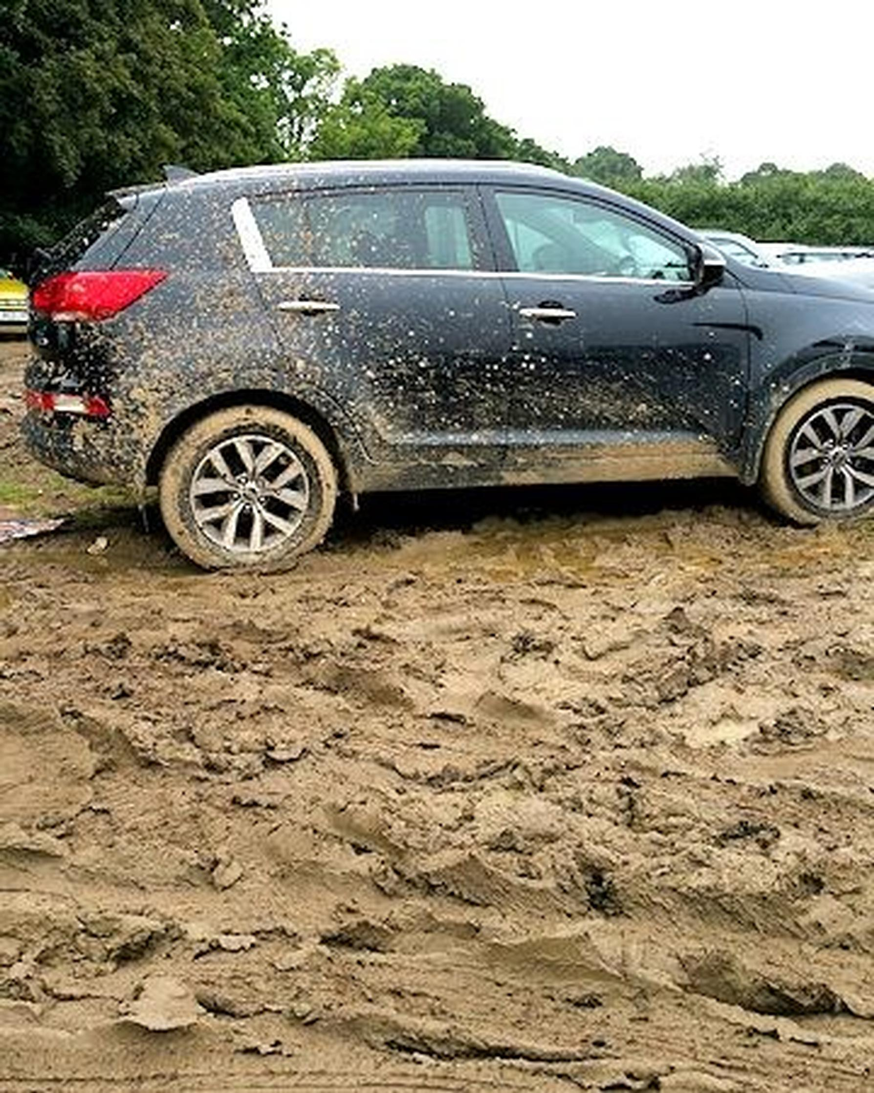 Sussex Police find 1,000 cars left unattended in muddy field near Gatwick Airport