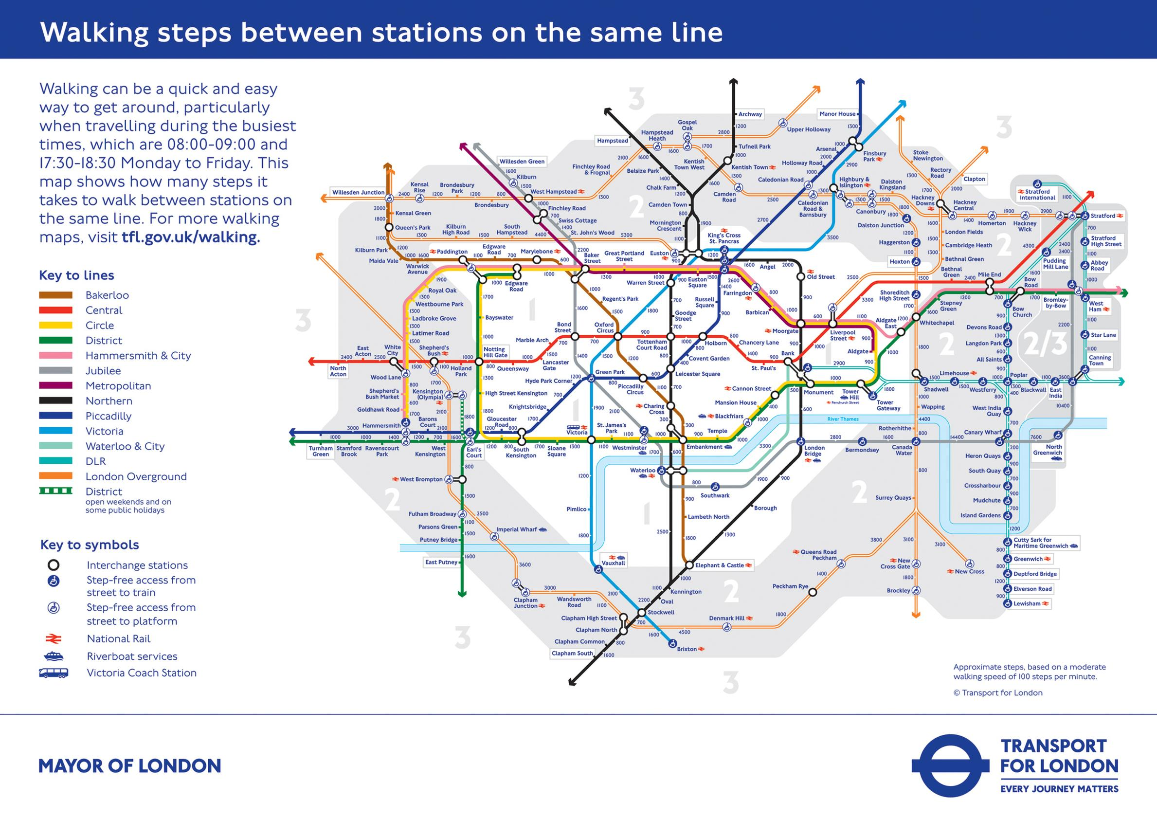 Tube map for walkers