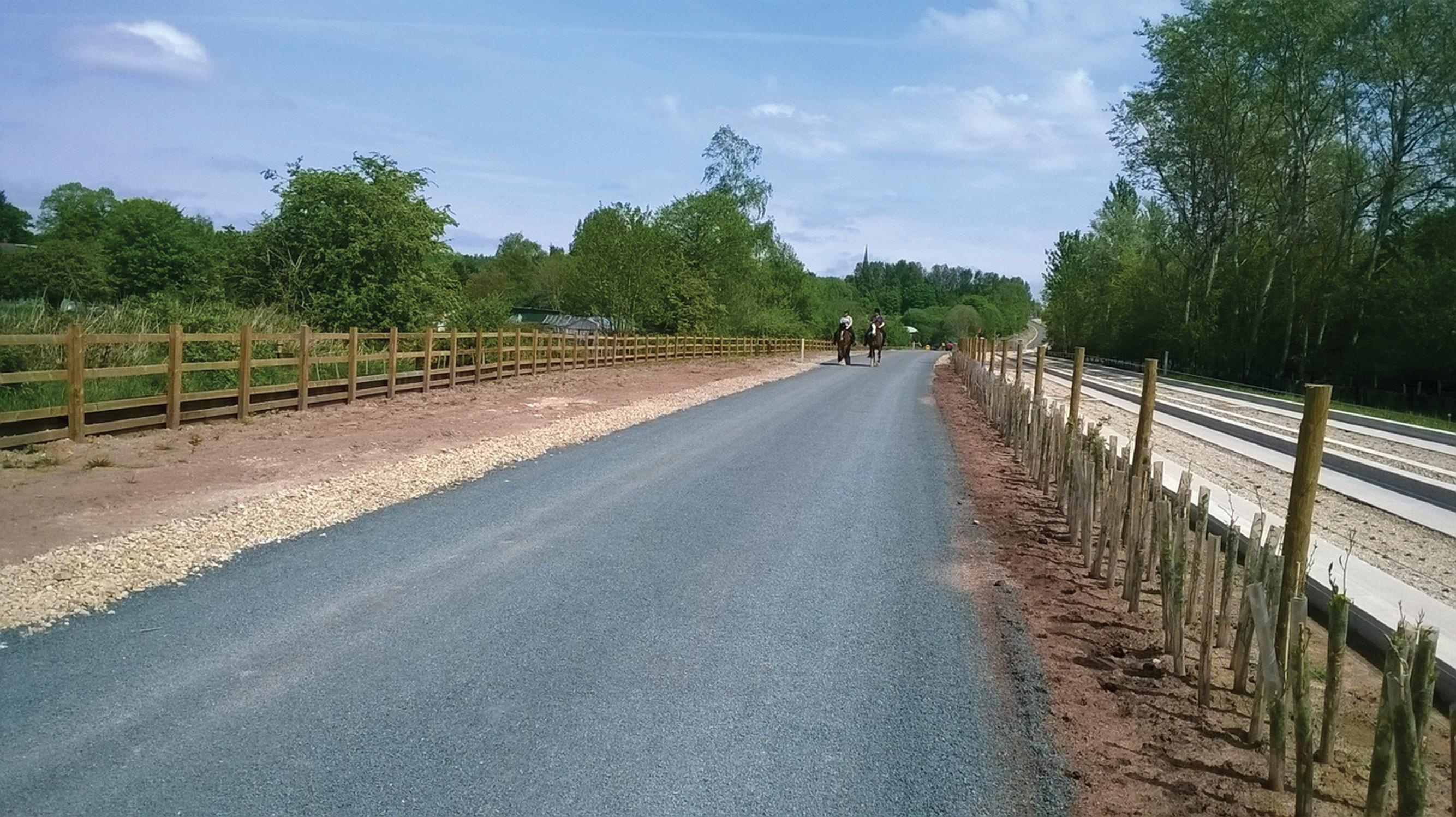 The multi-user path is already proving a hit with walkers, cyclists and horse riders