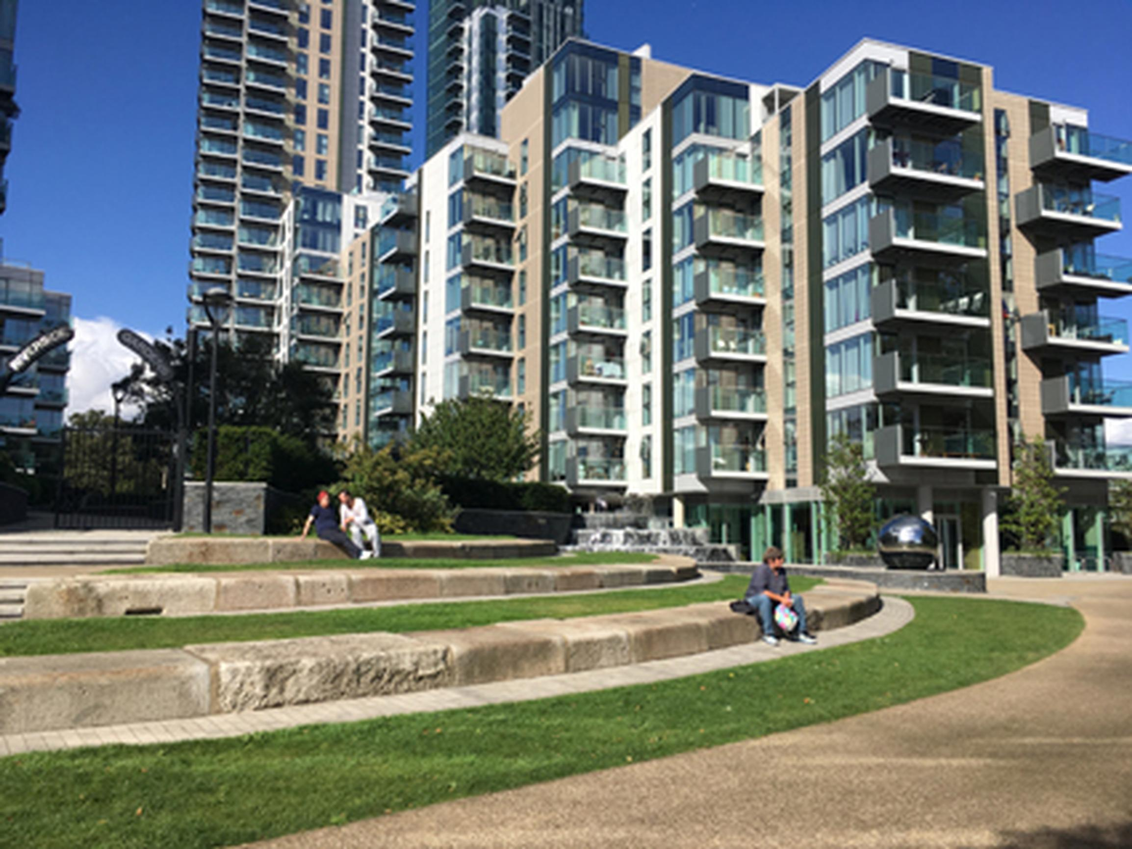 Regenerated homes at Woodberry Downs, Hackney