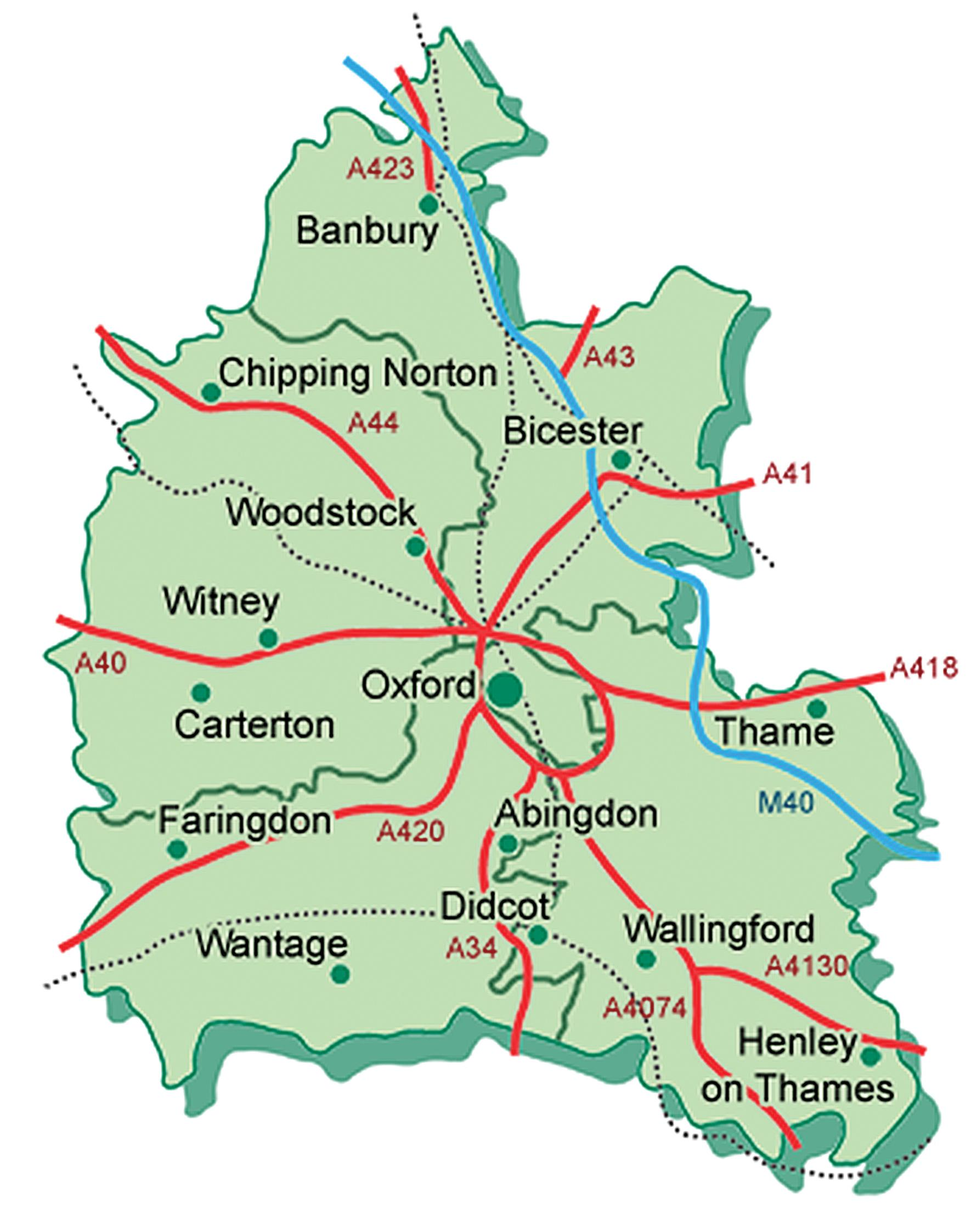 Oxfordshire a big transport agenda for a growing county