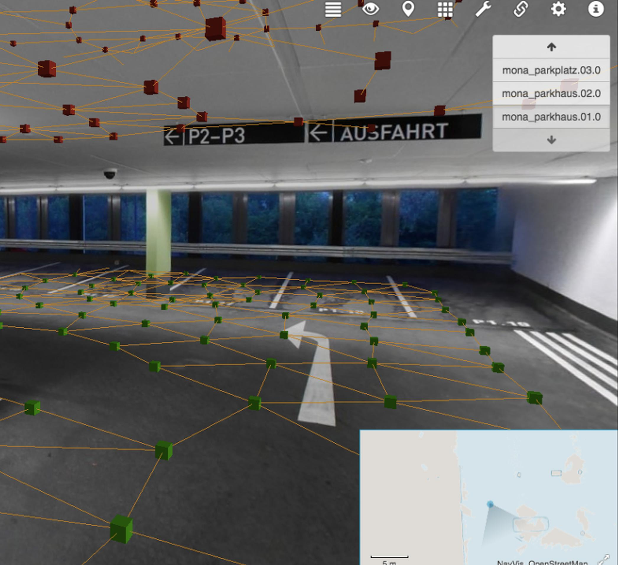 HAD Parking Maps works with sensors in automated cars to help them navigate within enclosed car parks