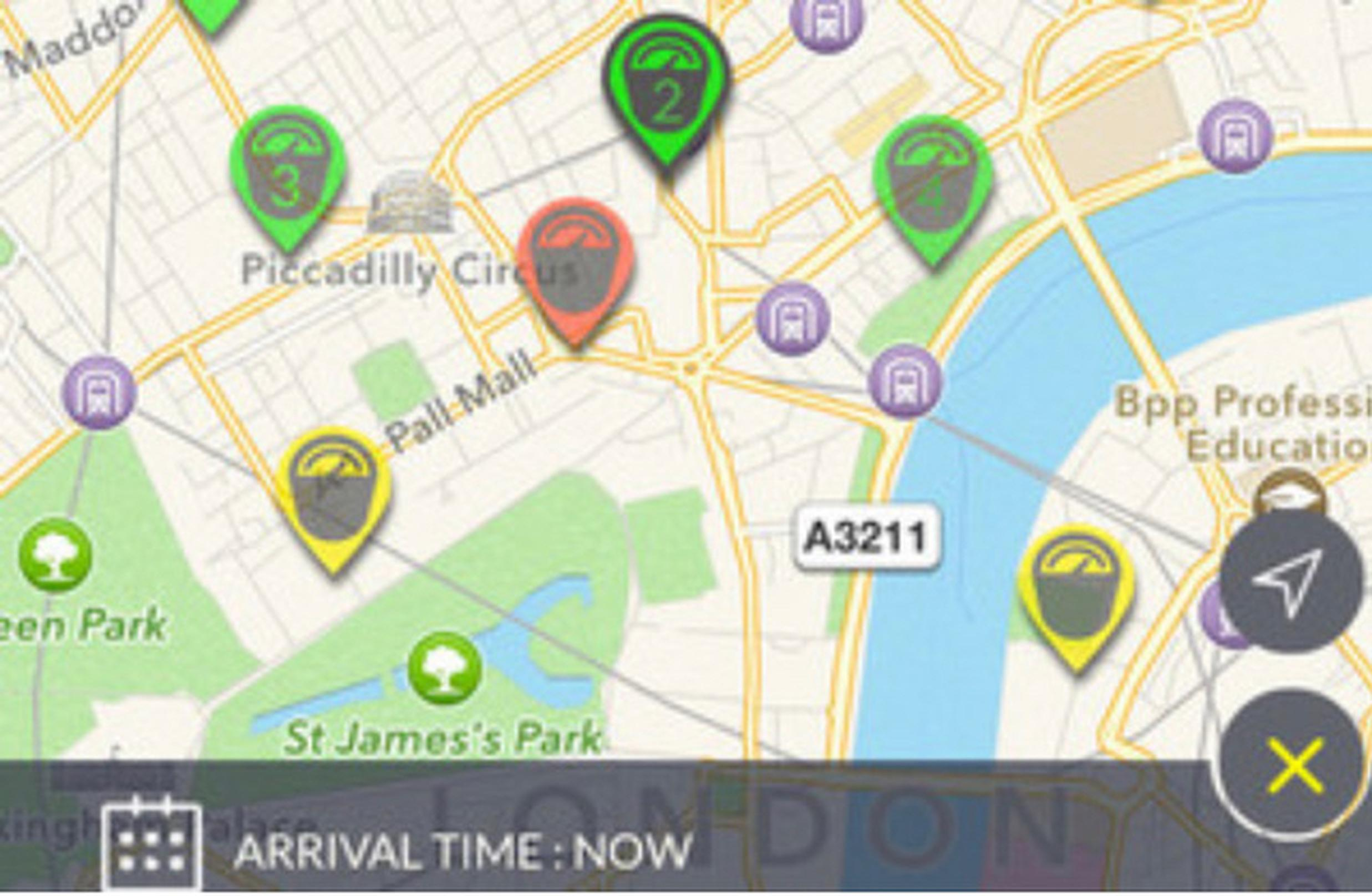 Westminter`s parking app shows drivers the nearest available bays