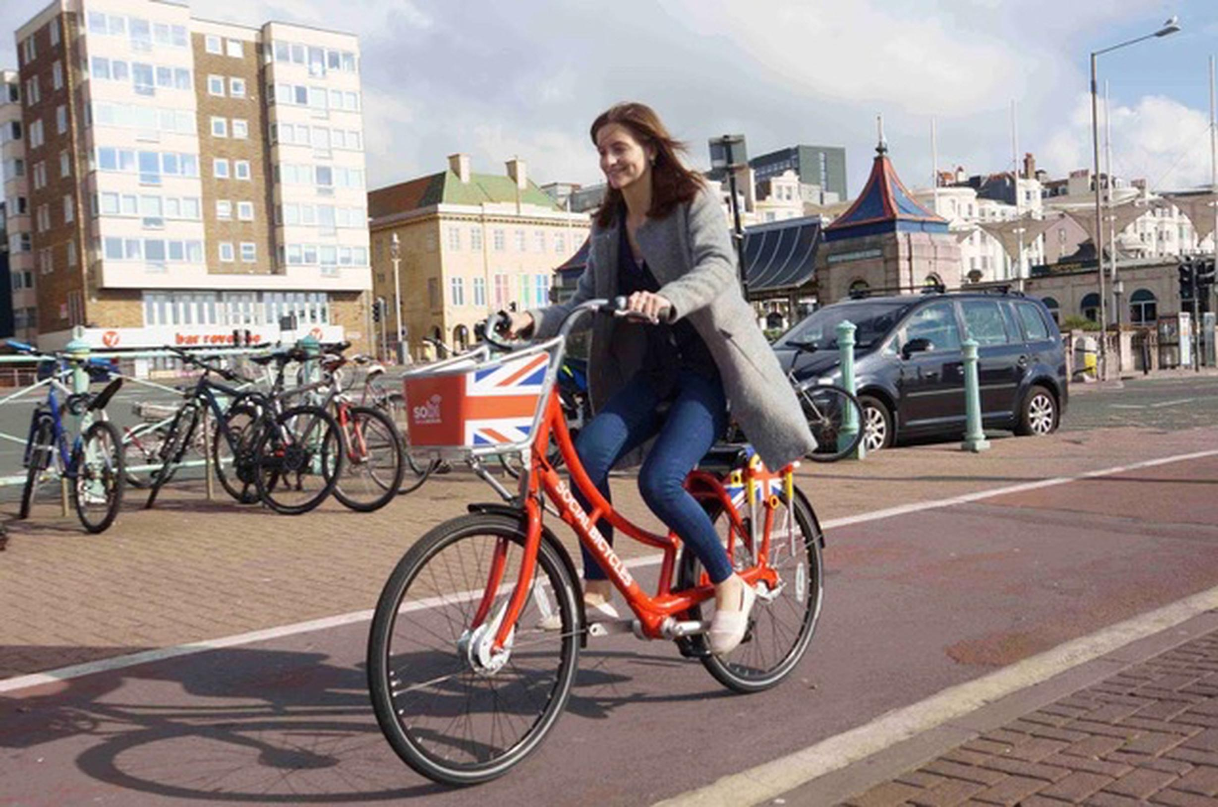 The'social bicycle' (SOBI) smartbikes wlll be available from 50 docking stations in Brighton and Hove including along the seafront