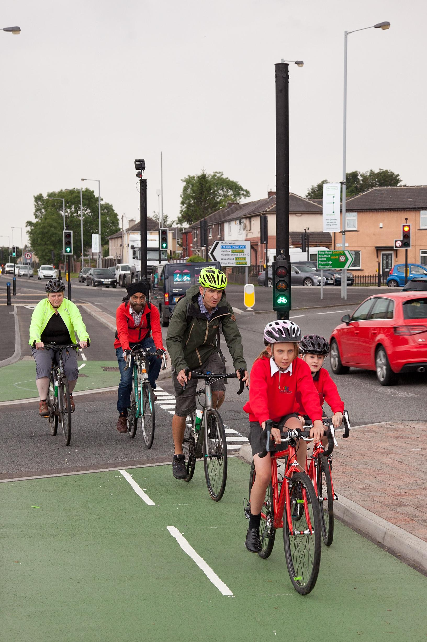 The Leeds to Bradford Cycle Superhighway has created a safe corridor of travel, allowing people of all ages to cycle and walk away from traffic