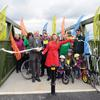 New cycle and pedestrian bridge opens in Leeds.