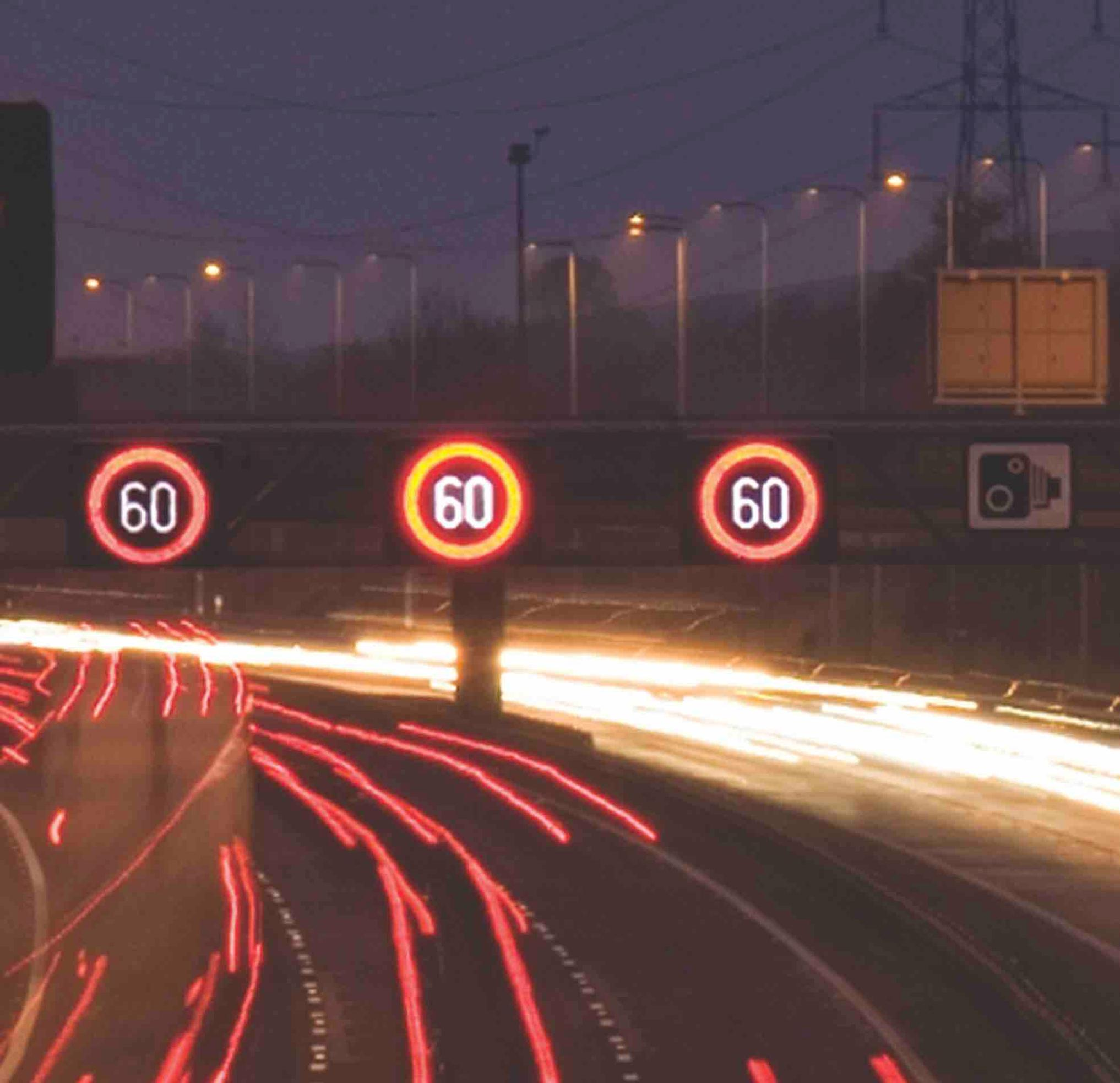Lower speed limits for sections of motorway?