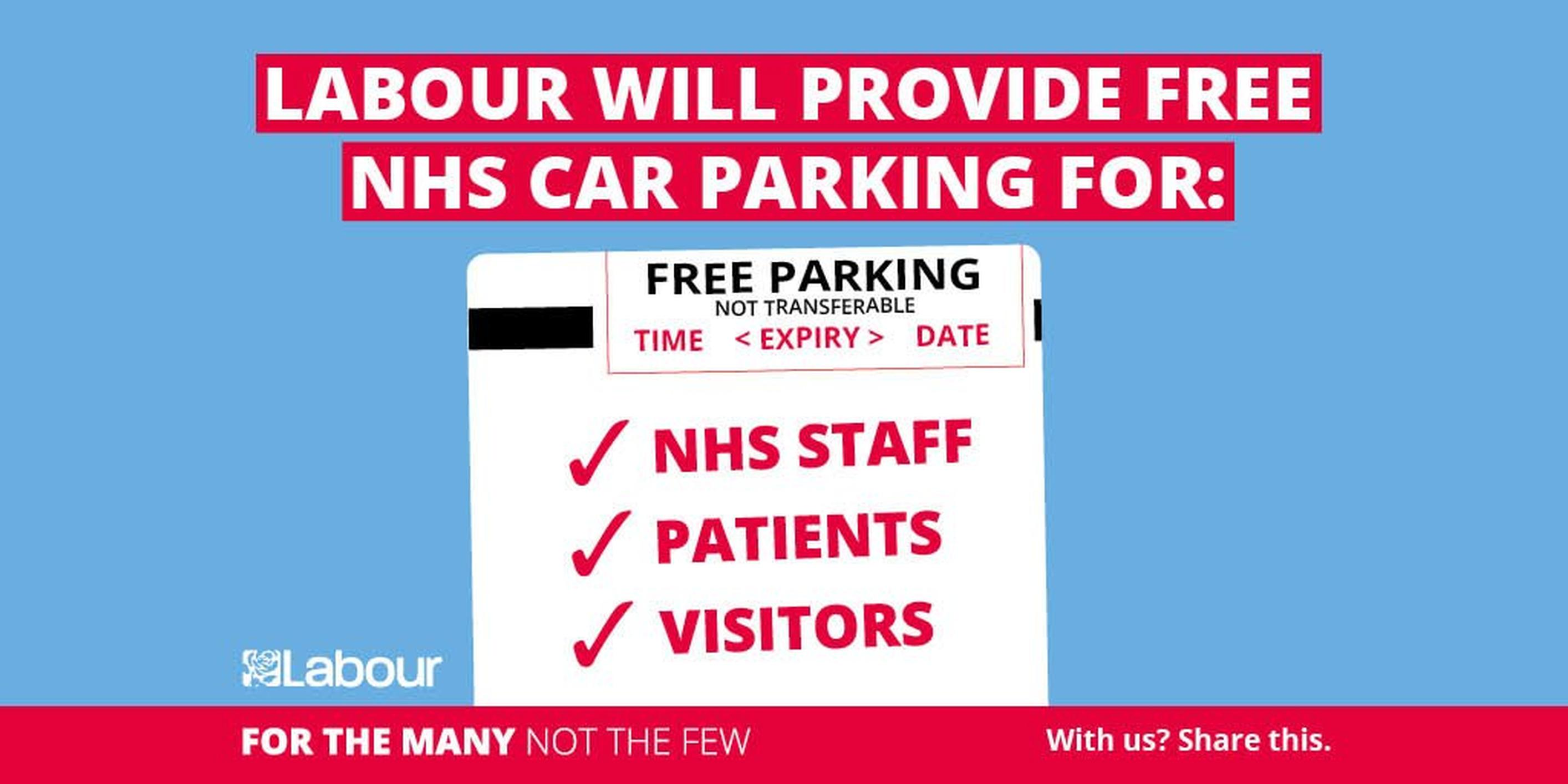 Labour leader Jeremy Corbyn said raising the tax from 12% to 20% would cover the £162m English hospitals received from car parking charges