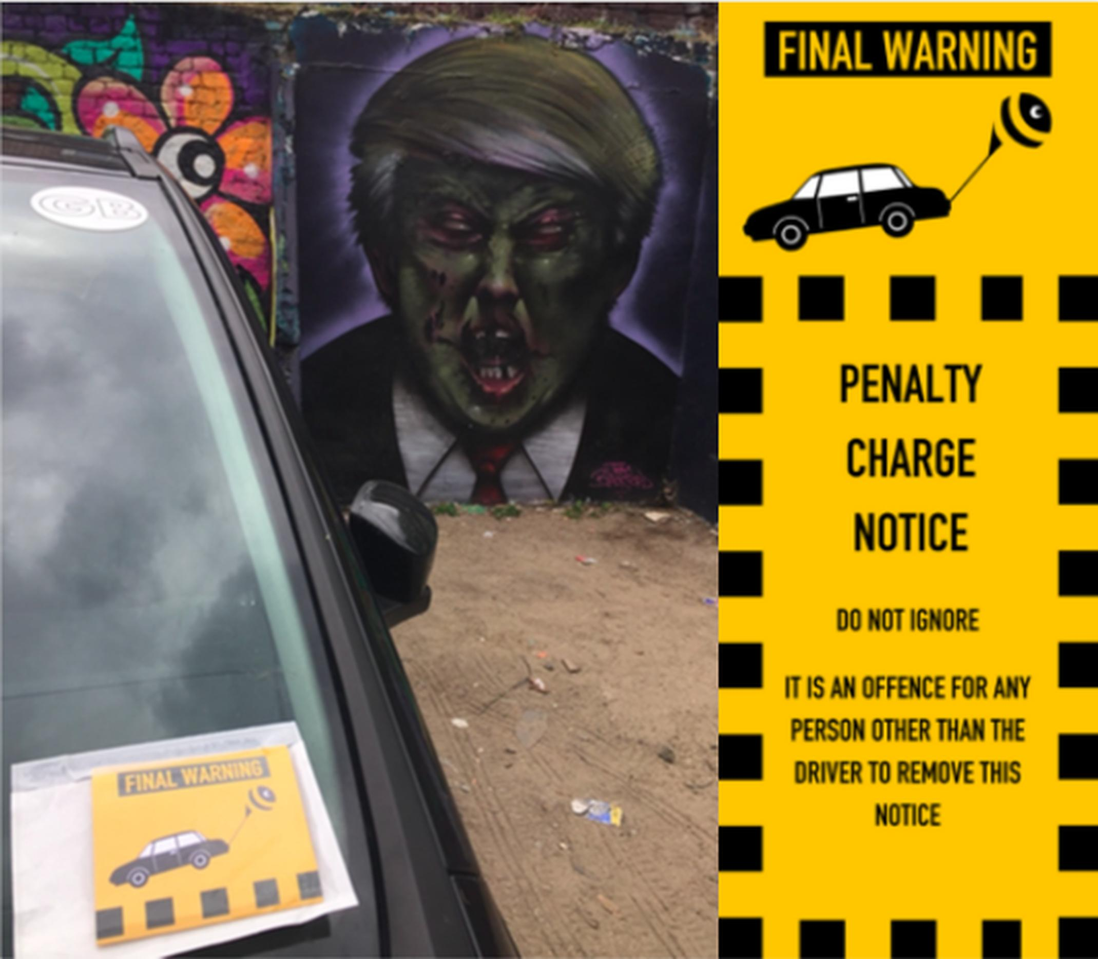 ParkBee has been posting flyers on cars in London designed to resemble PCNs