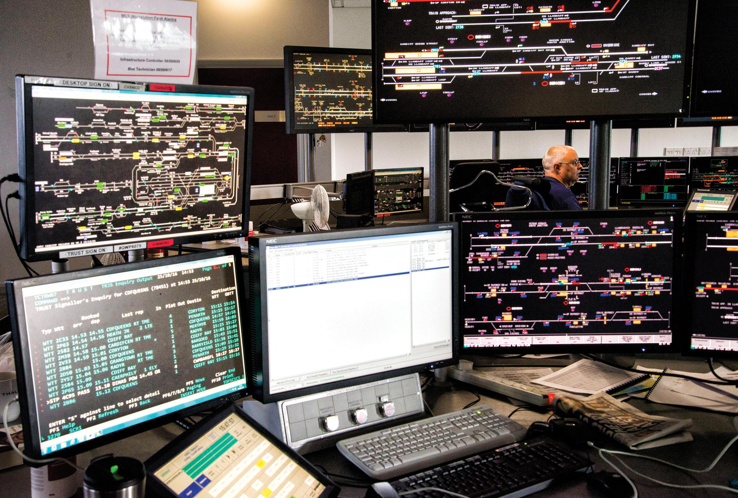 Each of Network Rail's 12 new Rail Operating Centres will control huge chunks of the rail network. NR has taken steps to mitigate the risk of system failures