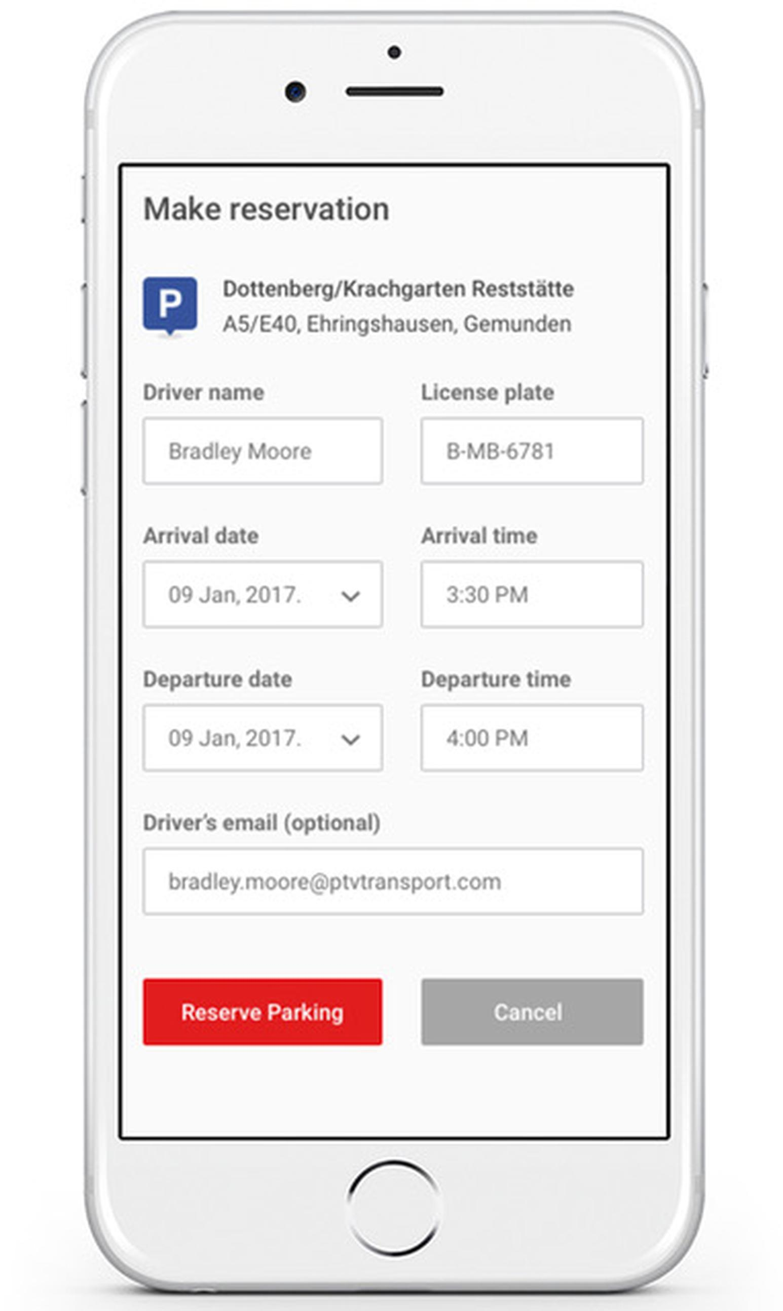 PTV adds pre-booking to HGV parking app