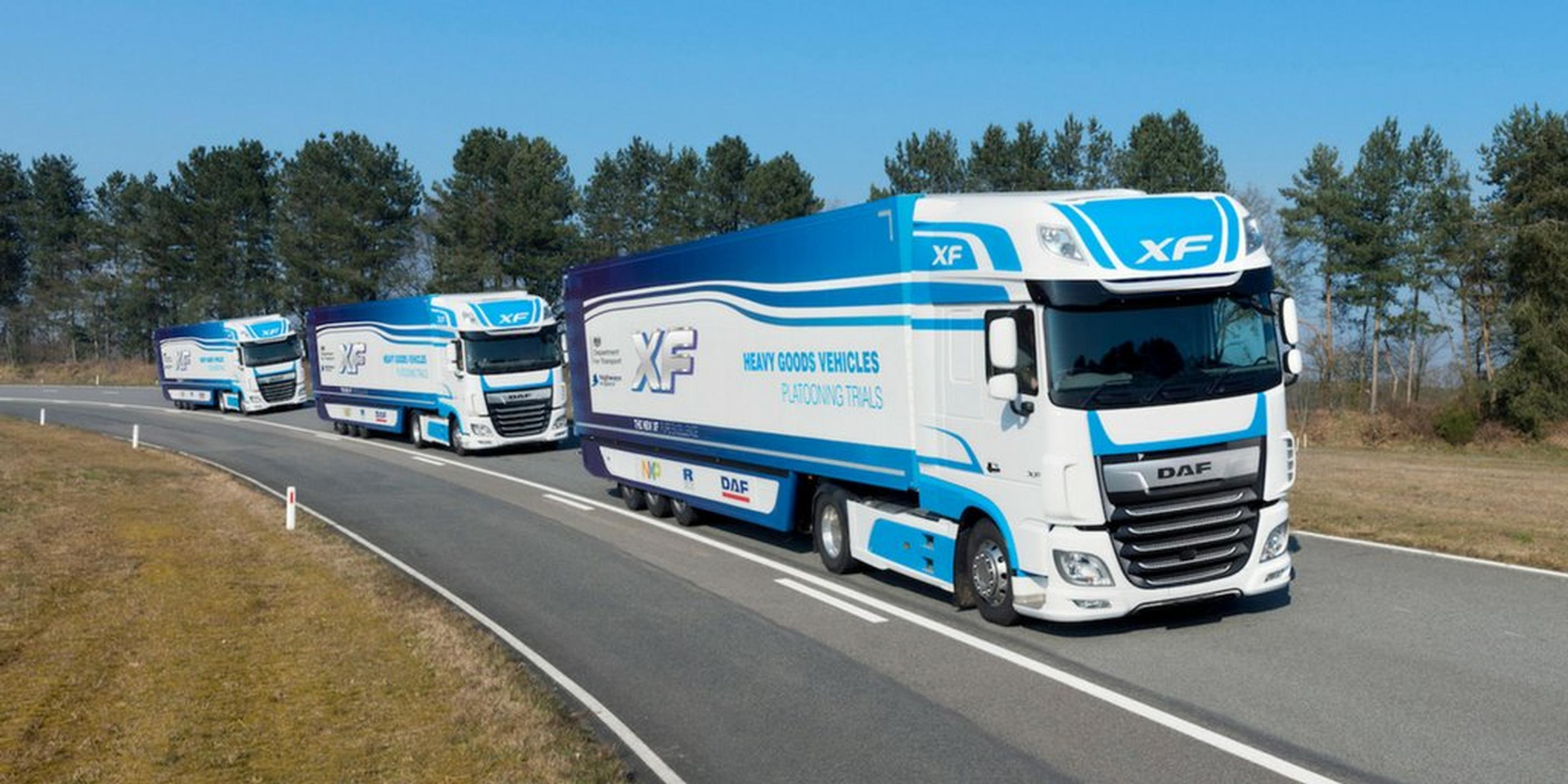 TRL, DAF and Ricardo have previously worked together on the feasibility of linked lorry platoons