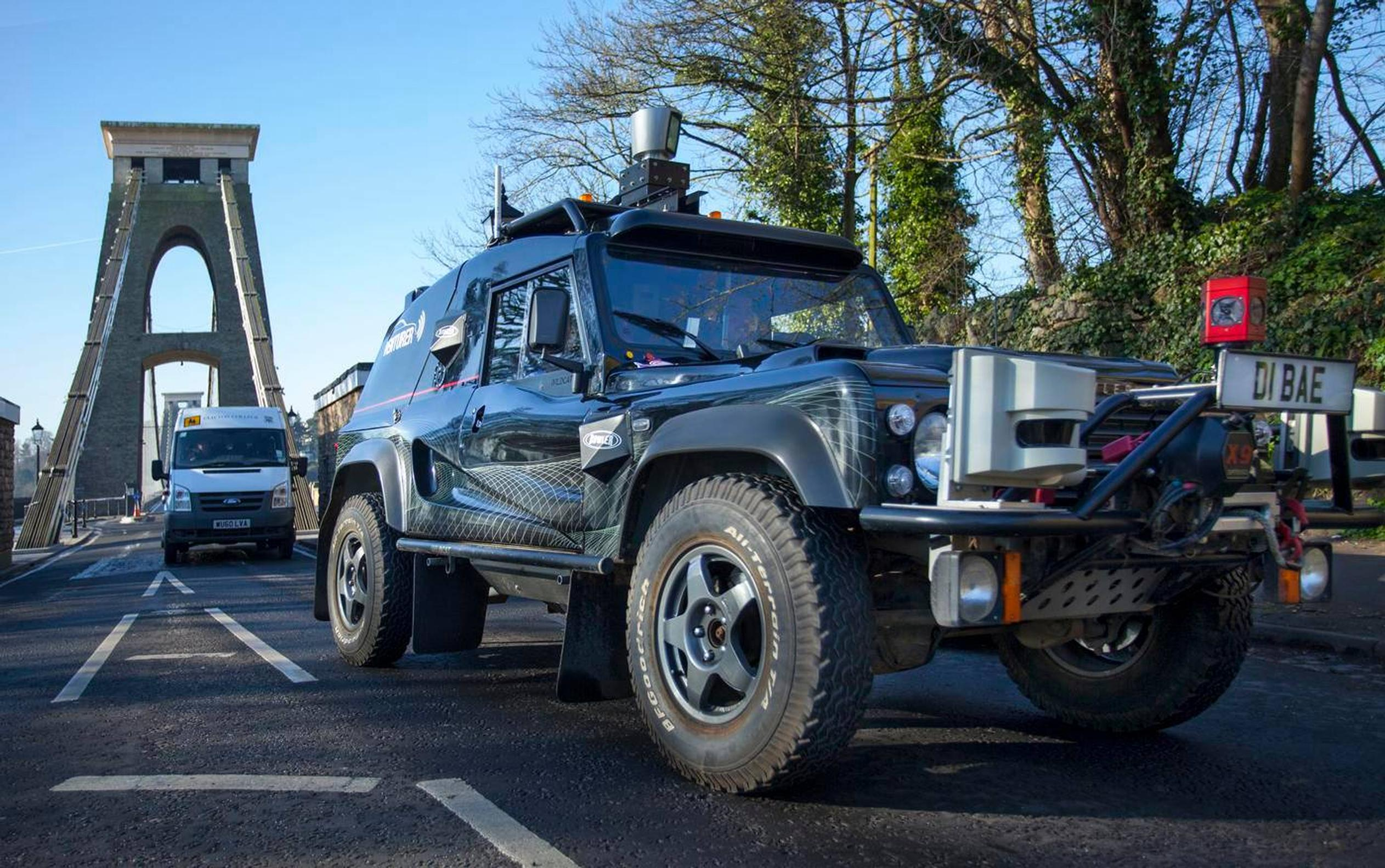 The VENTURER consortium's autonomous vehicle, the BAE Systems Wildcat,  is being trialled in the Bristol and South Gloucestershire Council areas to explore the feasibility of driverless cars in the UK