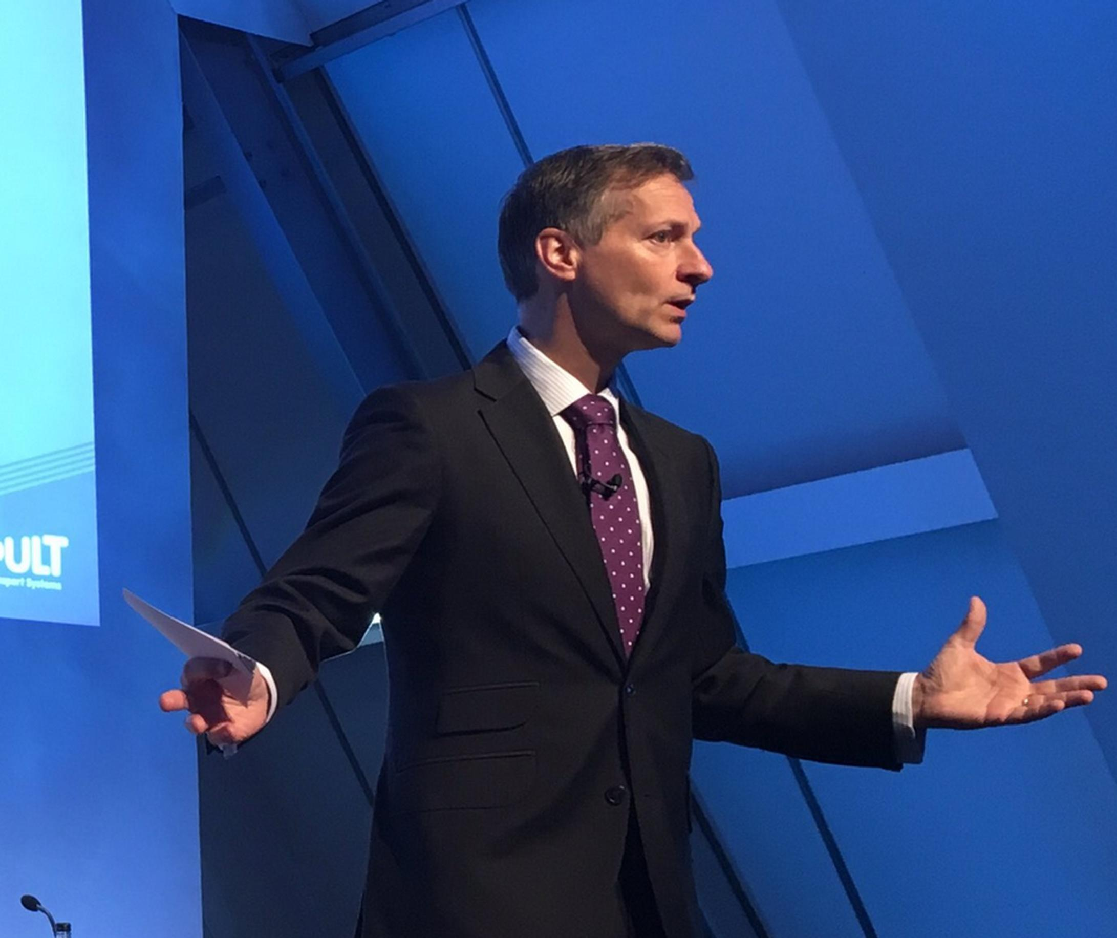 Transport Systems Catapult chief executive Paul Campion at Cenex-LCV 2017