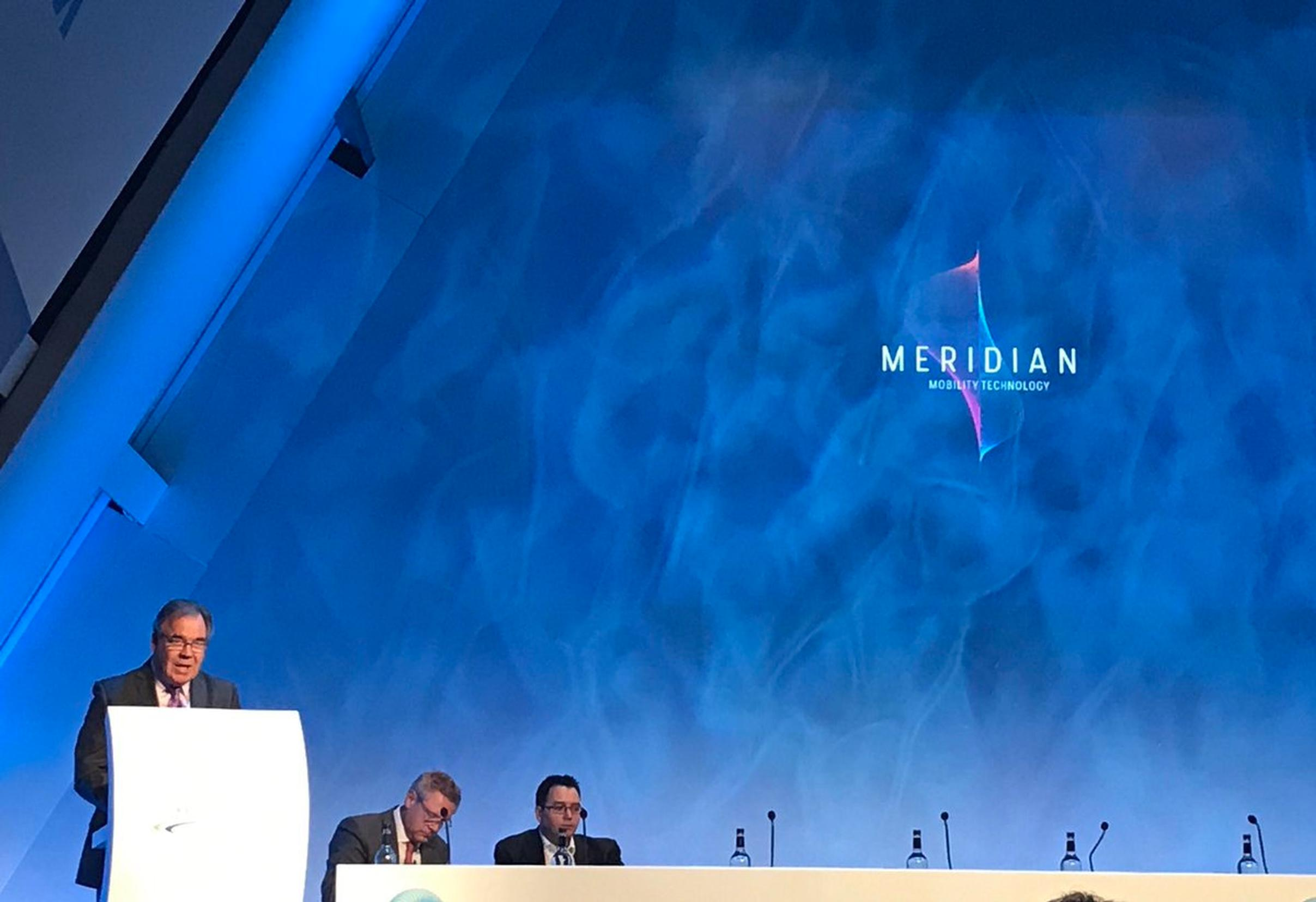 Meridian was launched by Jim Campbell at Cenex-LCV 2017