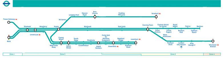 Docklands Light Railway Upgrade London - London dlr map