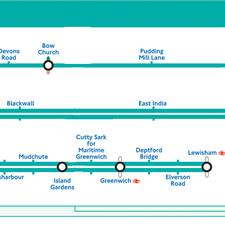 DLR route map