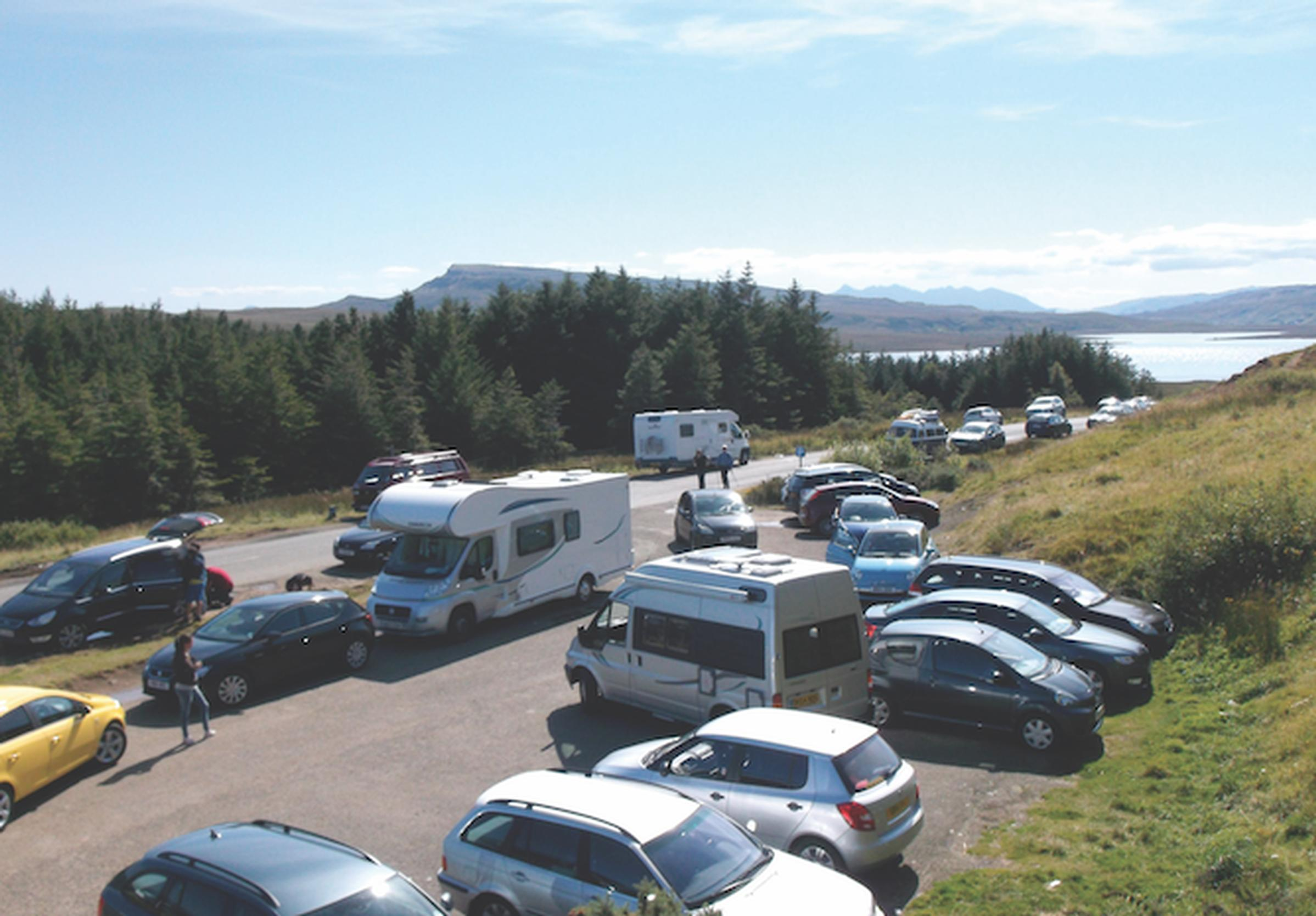 Tourist cars and camper vans are now a common sight on Skye