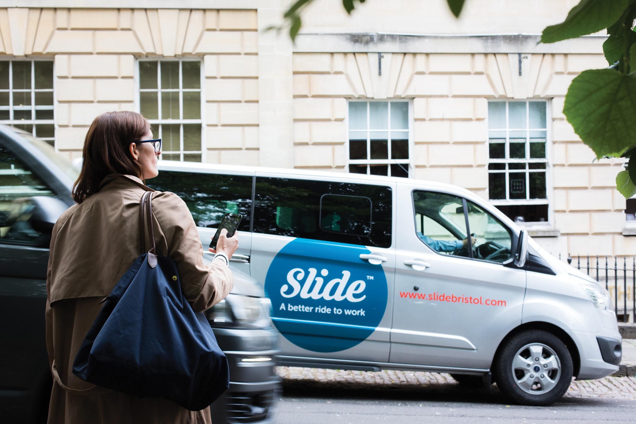 Slide Bristol customers can book journeys via an app up to 10 minutes before travel