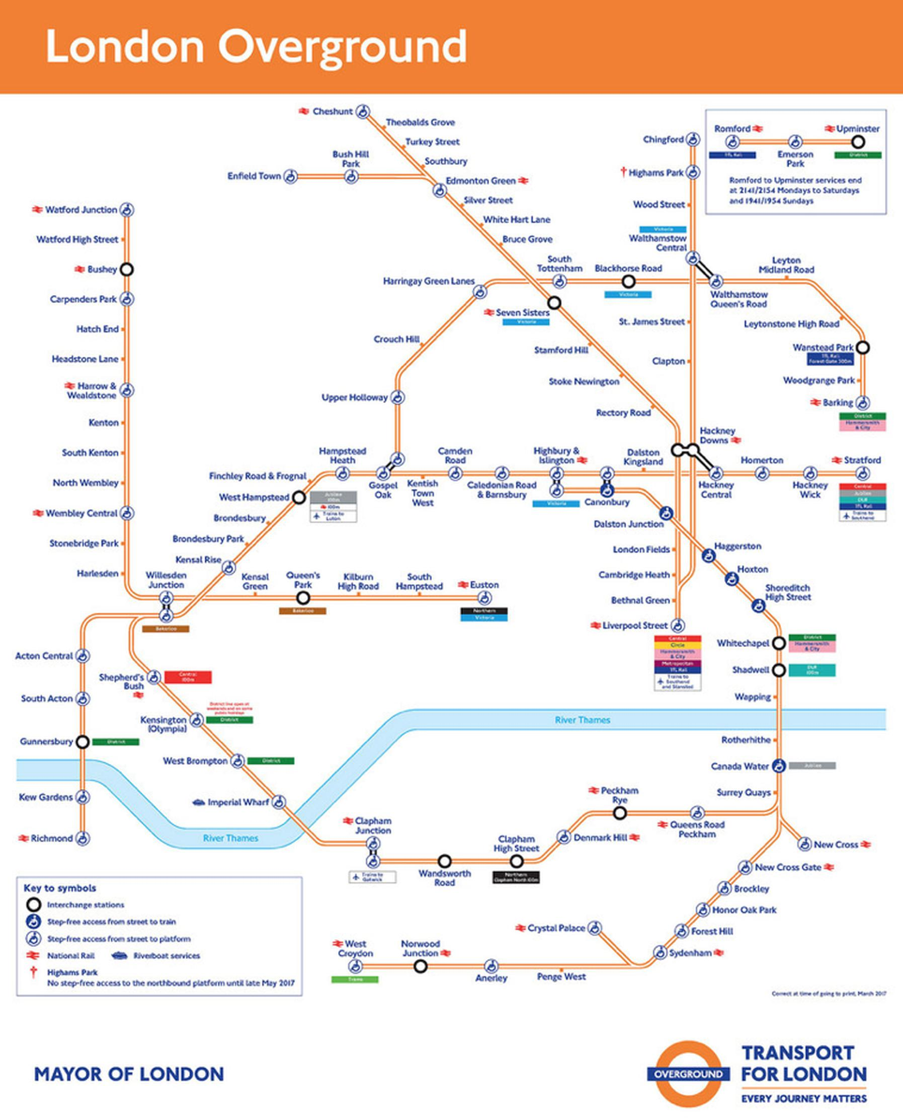 The London Overground network in 2017