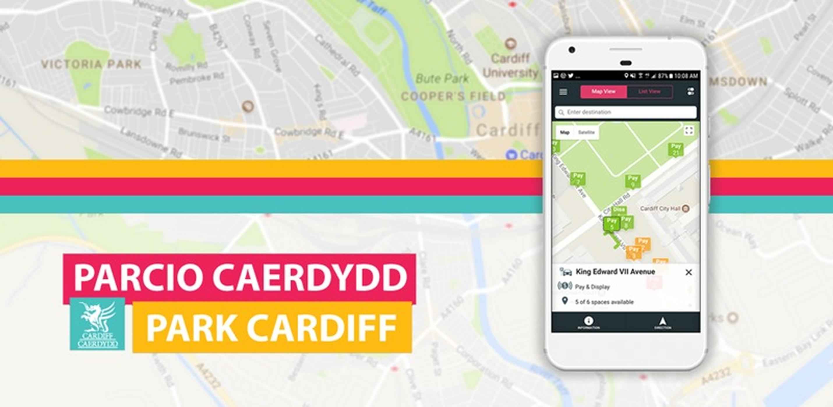 Park Cardiff app uses sensor data to help drivers locate empty bays