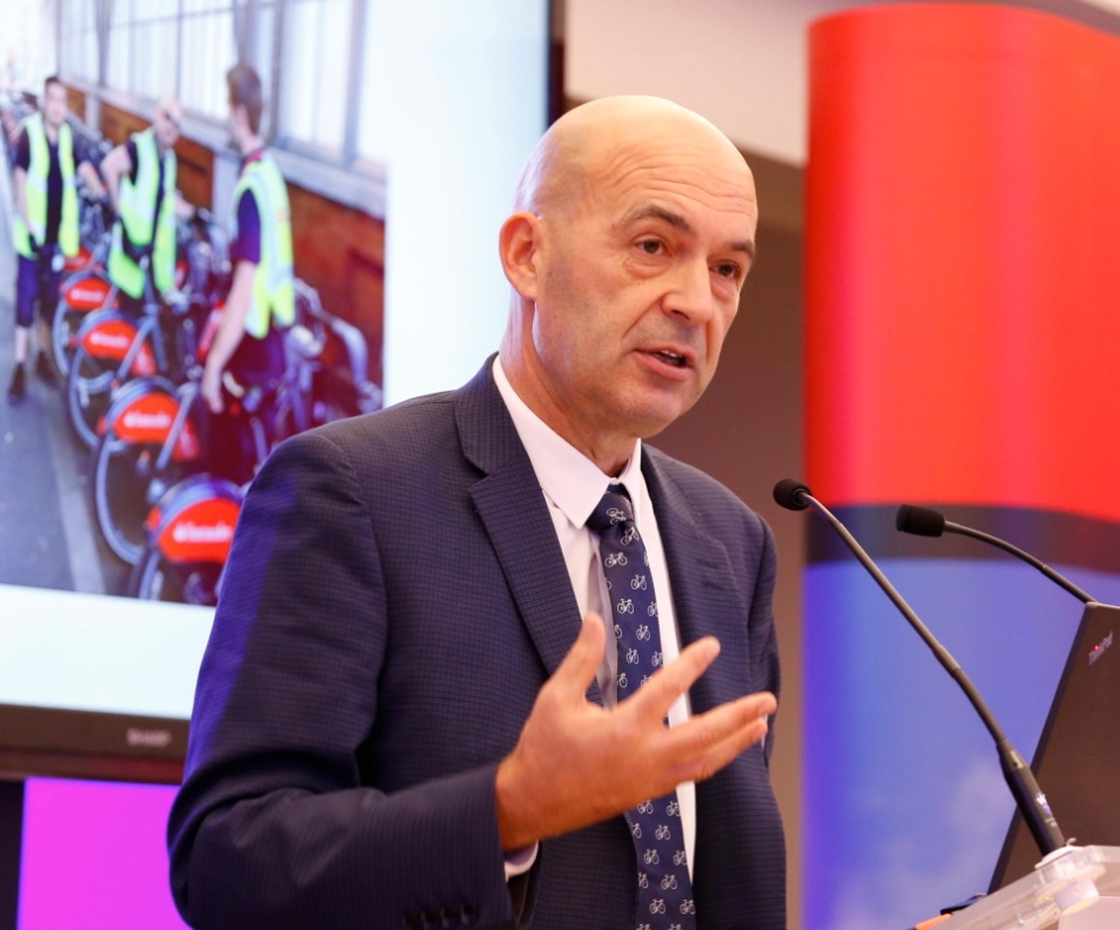 At the National Cycle-Rail Awards TfL`s David Eddington called on Network Rail to provide more space for hire bikes at stations