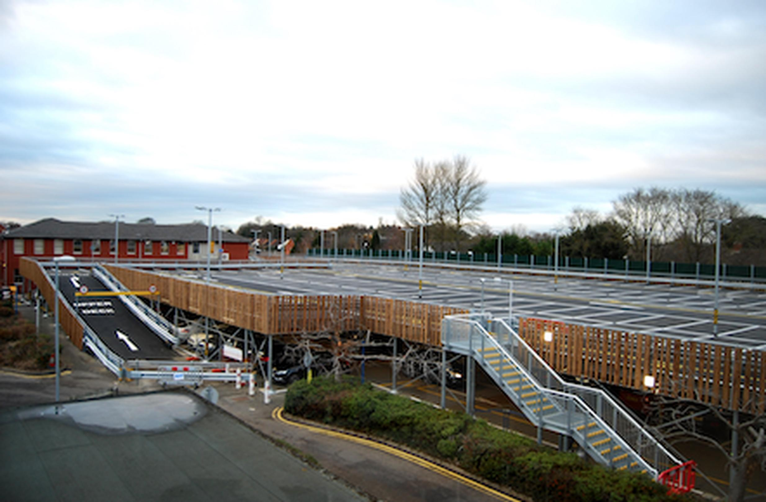 Kettering General Hospital deck completed