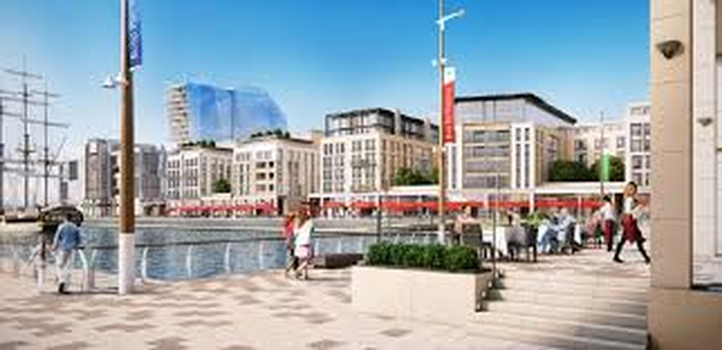 The planned Royal Pier development in Southampton, a city which has plans to clean up its air quality through improved planning policies