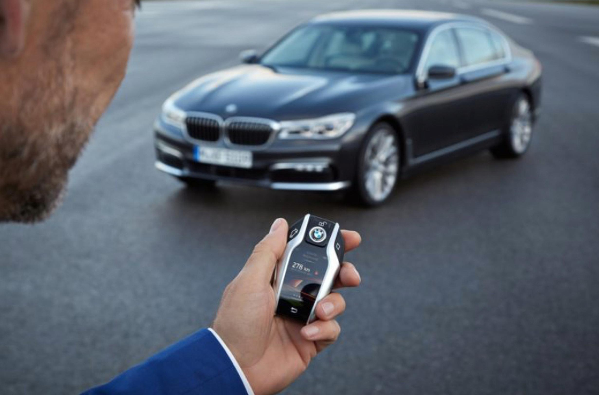 Remote control parking is one of the features of BMW`s 7 Series