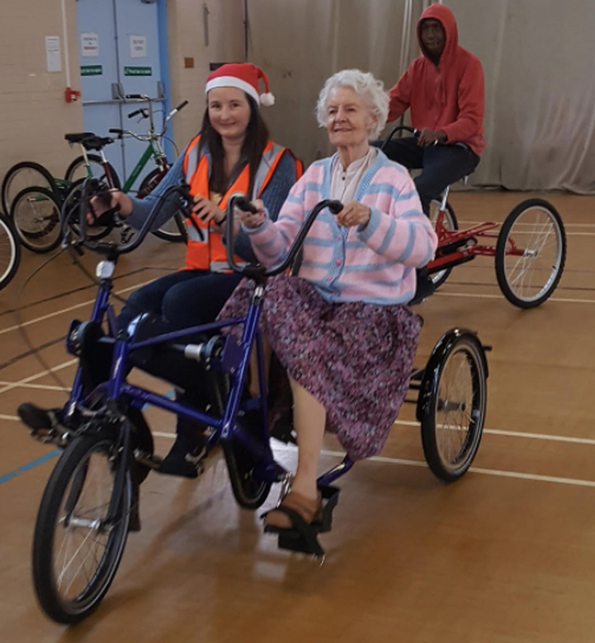 Cycling Grants London has enabled Wheels for Wellbeing to offer rides in side-by-side tandems for people with dementia