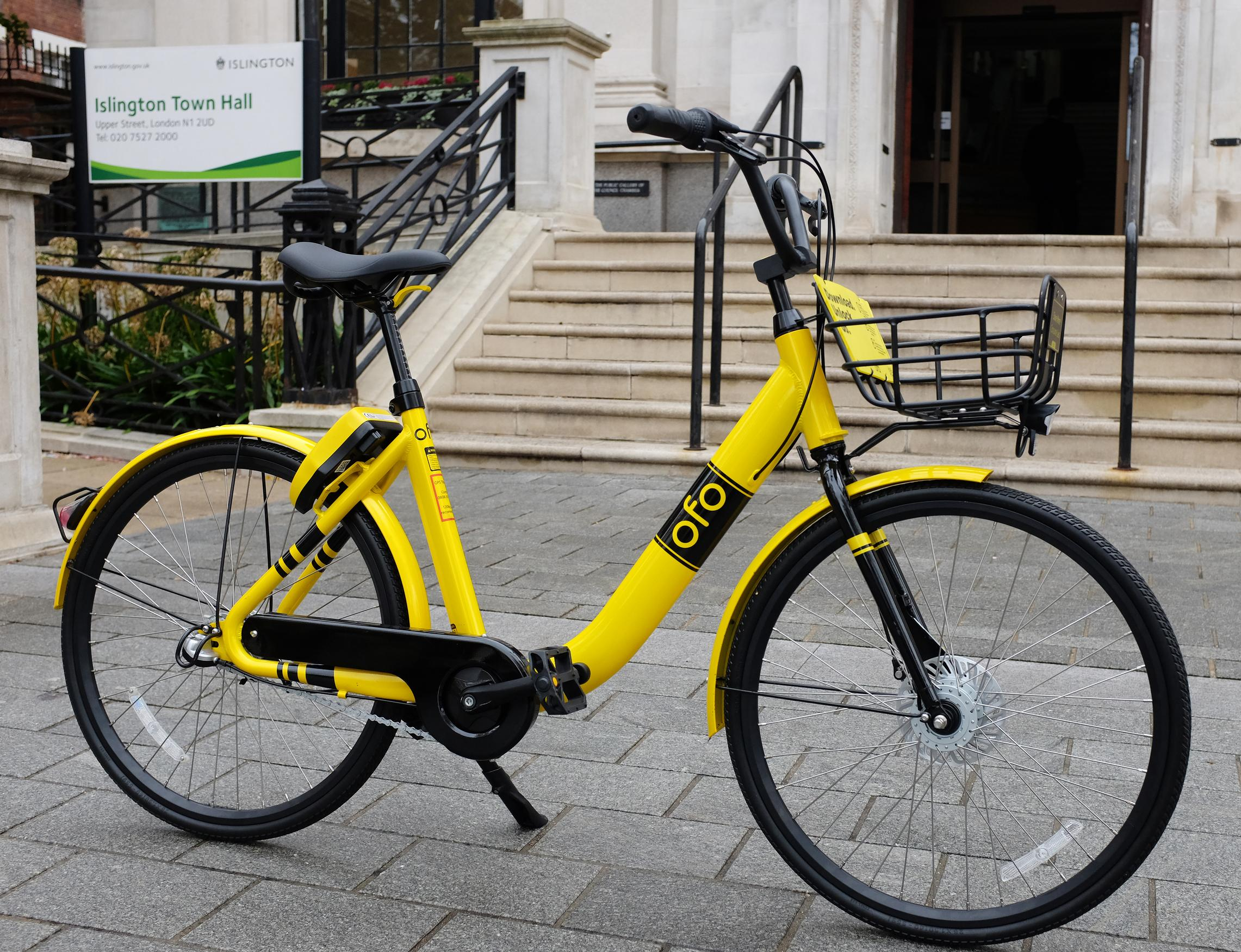 Dockless bike hire has landed in Islington and the City of London as bike share operator Ofo continues towards its aim of 20 million bikes globally