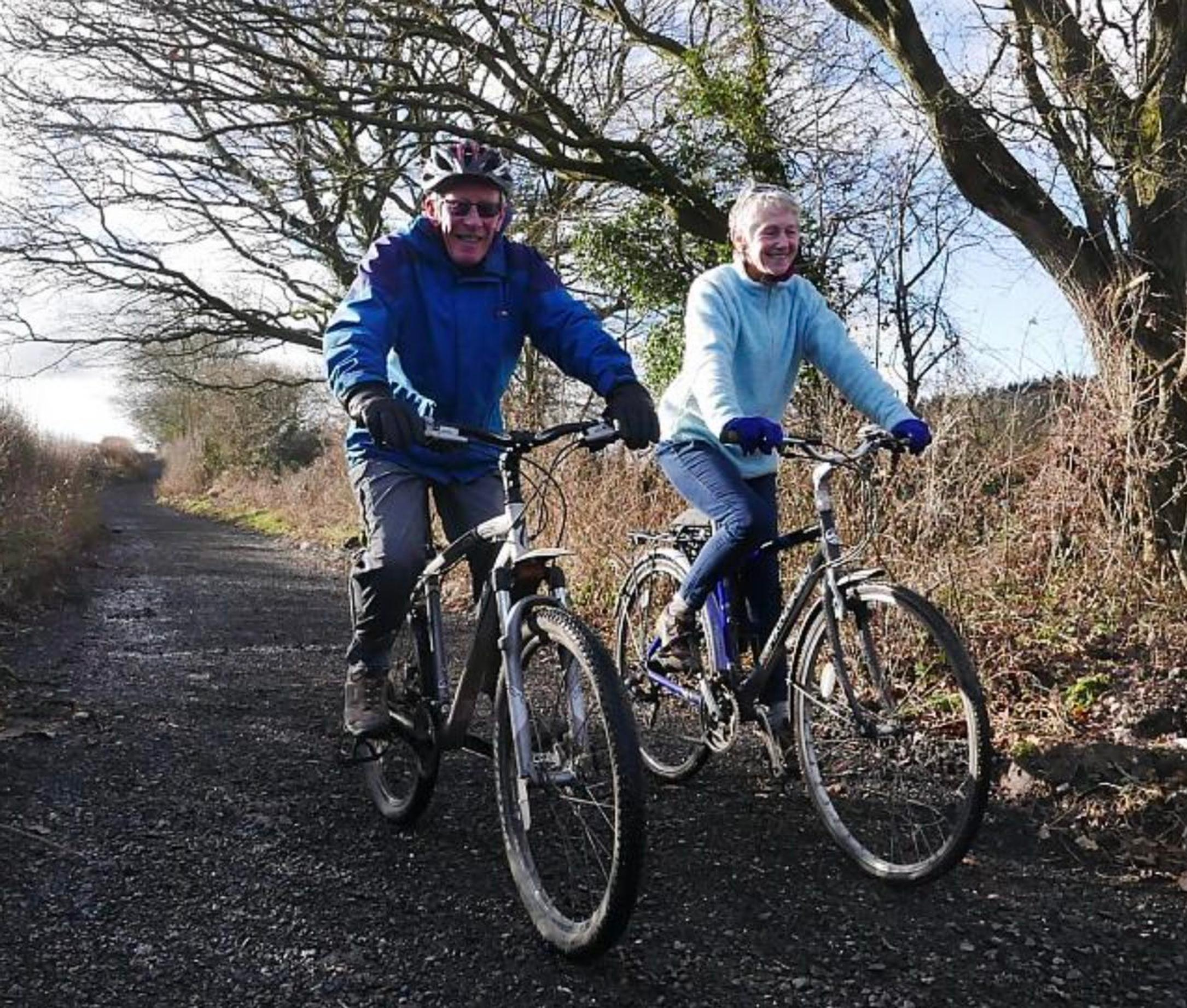Parish Councillor Dilys Gartside and husband Jeremy of the Little Lane Trailway