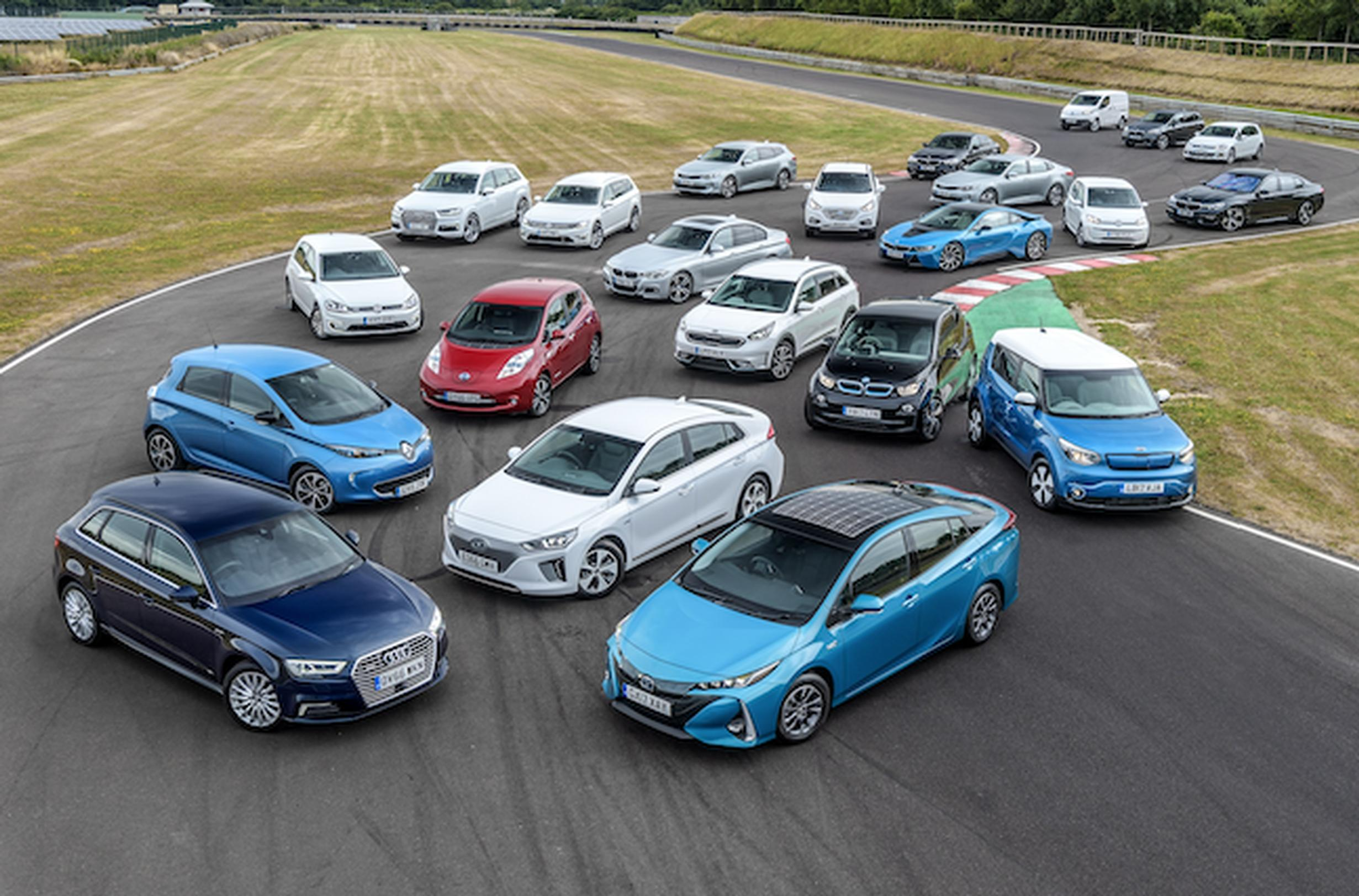 A selection of electric vehicles currently on the market in the UK