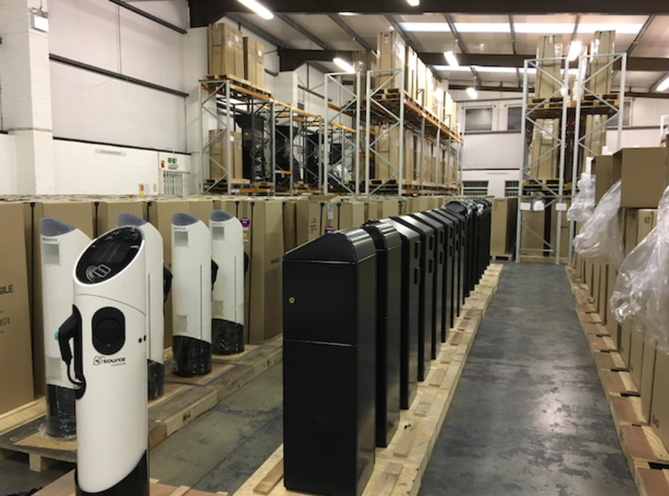 BluepointLondon has 1,000 charge points stored in a warehouse in Ealing awaiting deployment in the capital