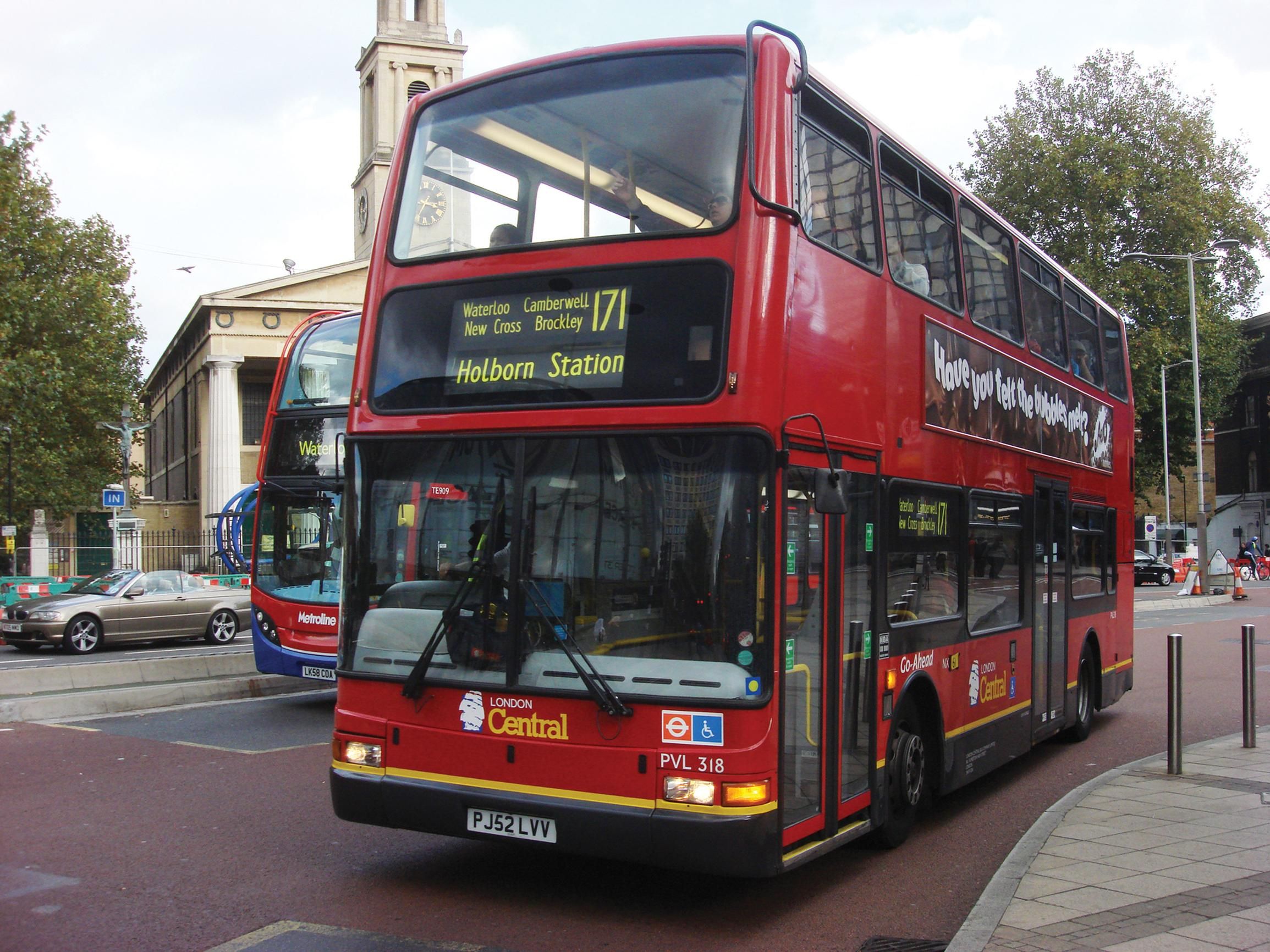 Buses: six per cent cut in mileage London-wide
