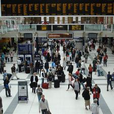 Passengers at Londons Liverpool Street station