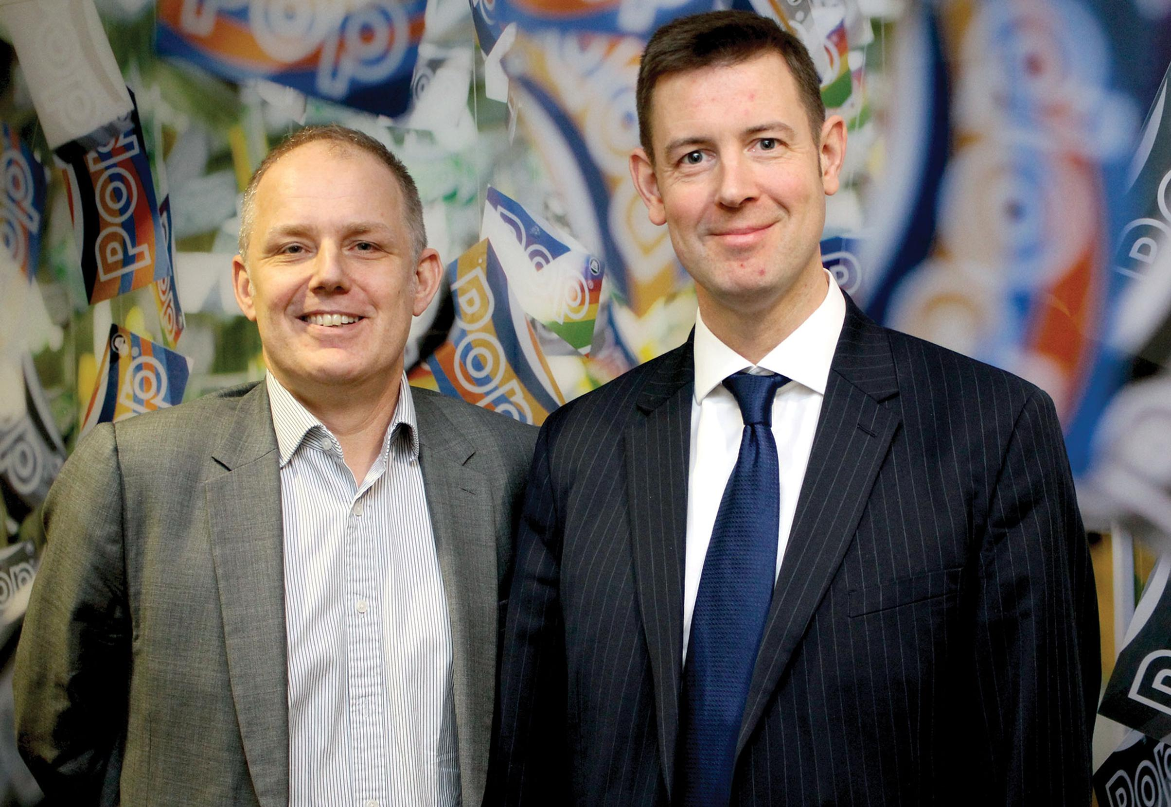 Urban Transport Group director Jonathan Bray (left) and chair Tobyn Hughes