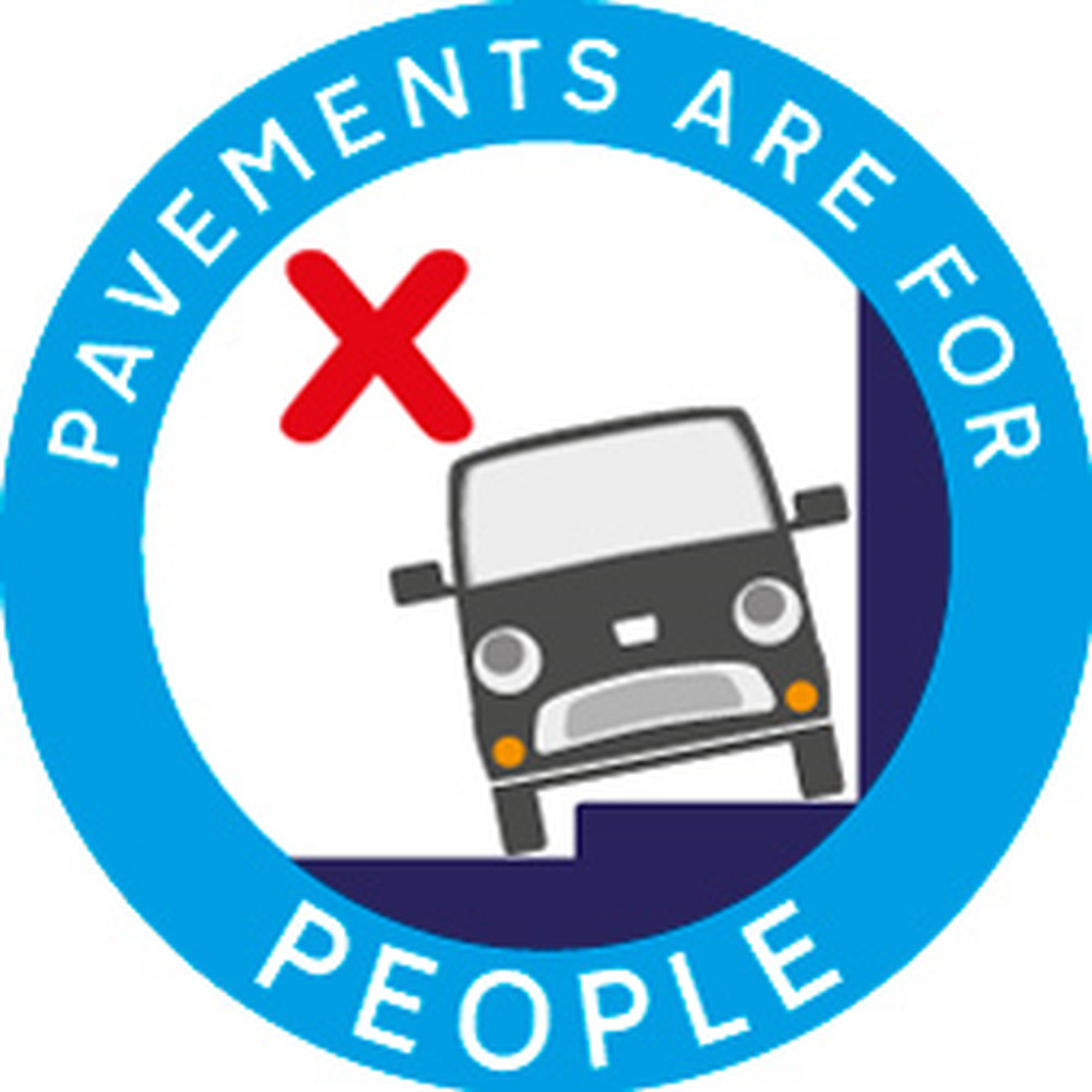 Devon County Council has been promoting awareness of the footway parking issue through a leafleting campaign using a 'Pavements are for people' logo