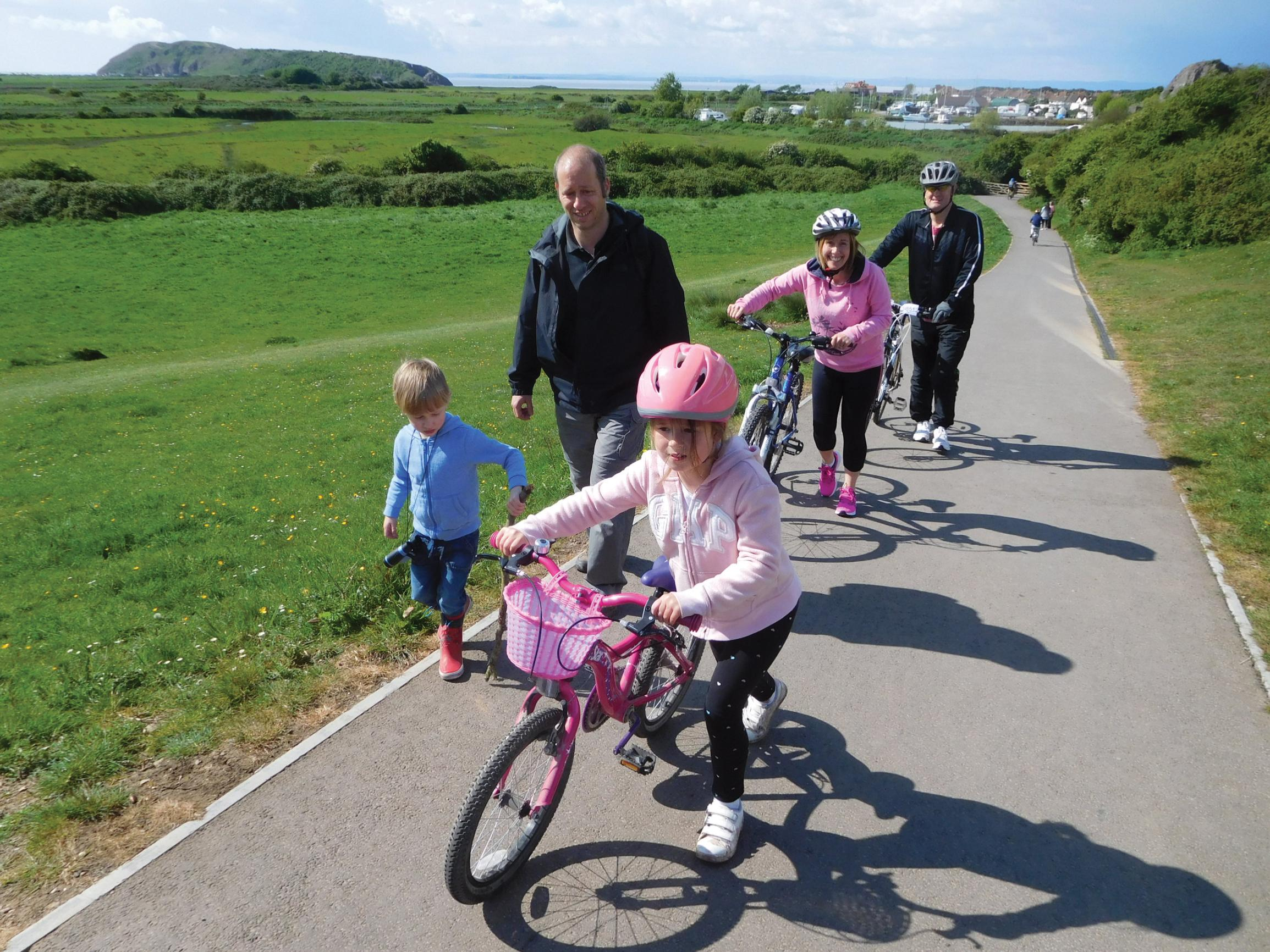 Enjoying the Brean Down Way near Weston-super-Mare, which opened last summer