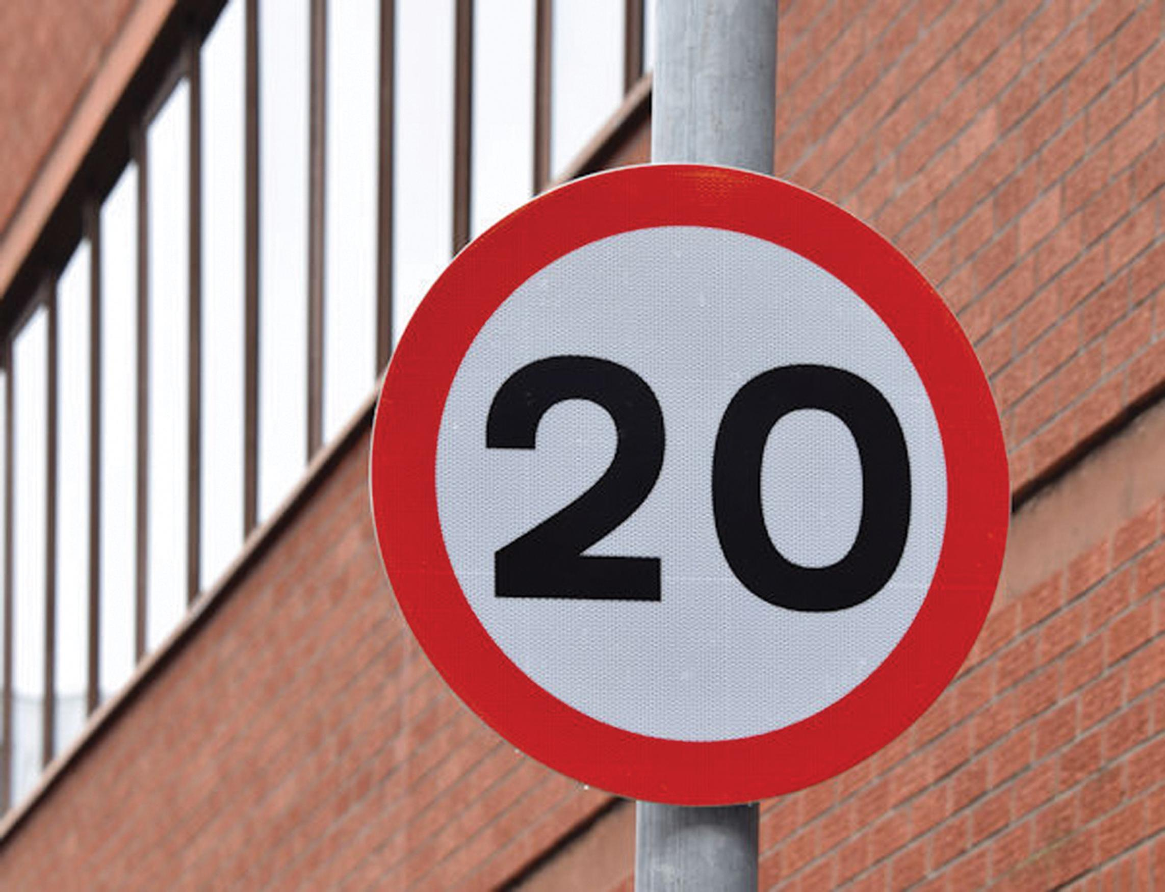 Driver injuries fall in council 20mph areas