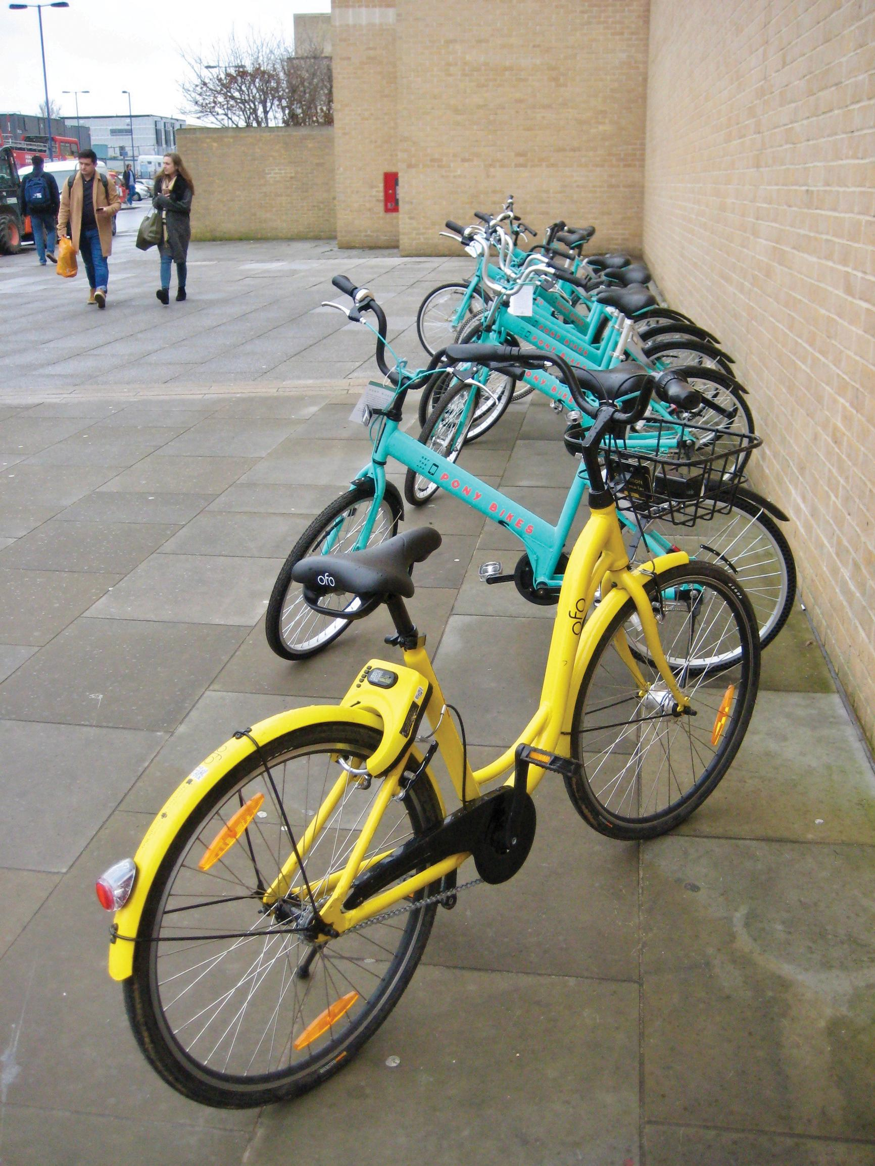 Oxford has three dockless bike hire operators, which could be incorporated into a MaaS operation