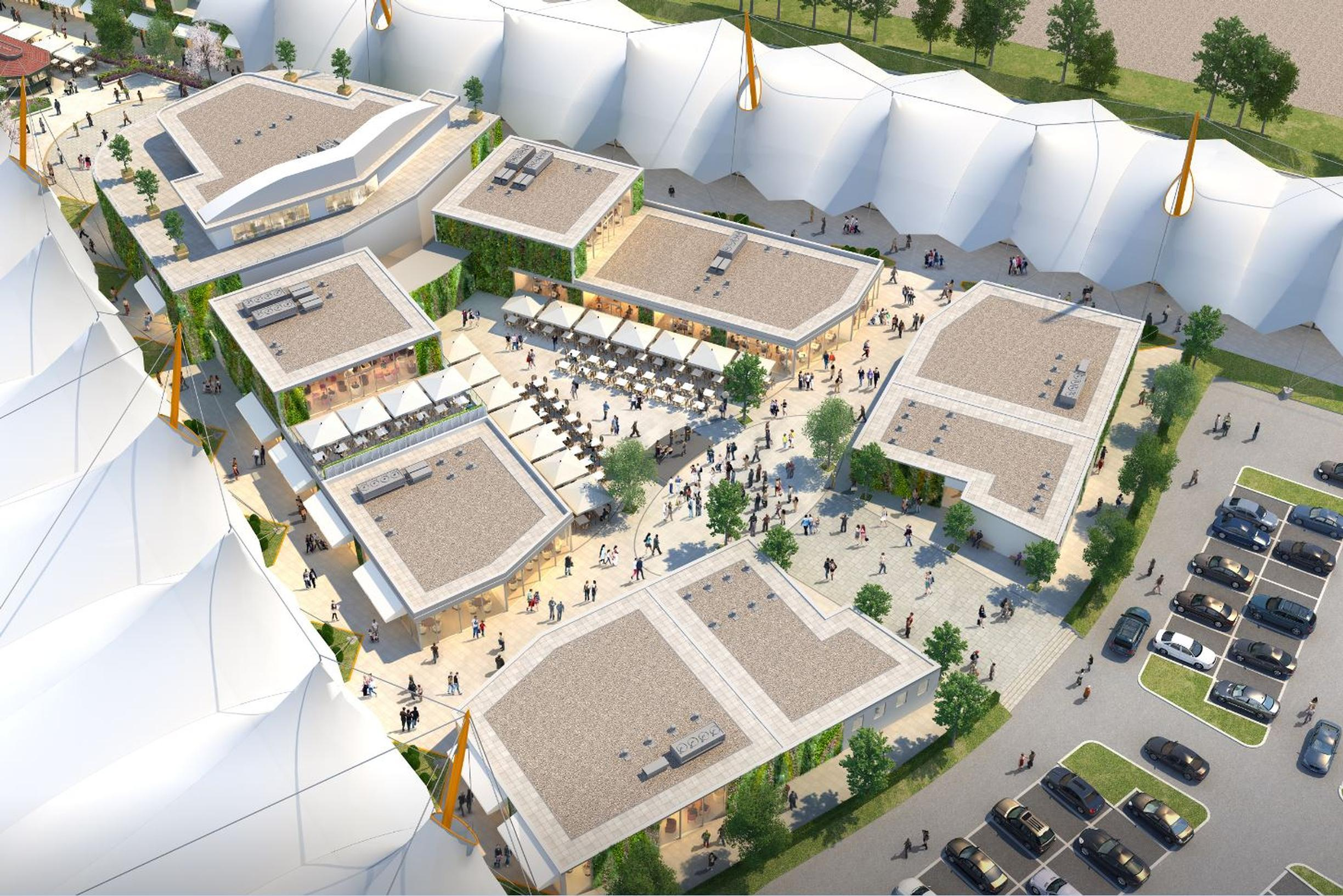 Plan for the revamped outlet centre