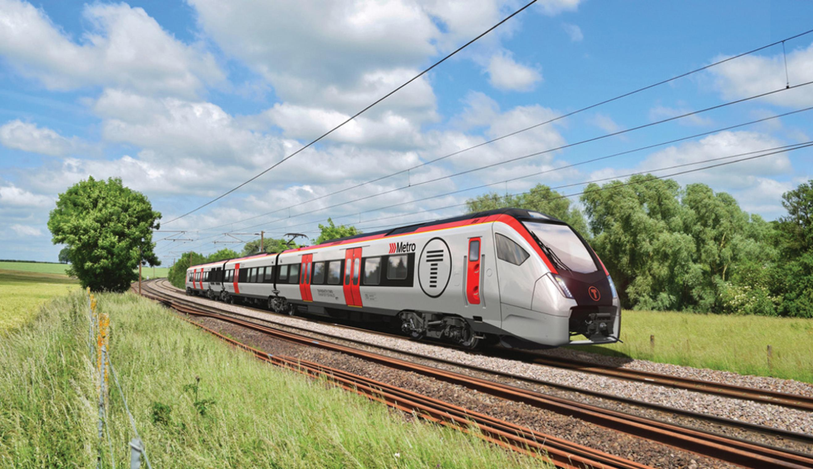 Stadler will build a fleet of tri-mode trains (pictured) and light rail vehicles for local services around Cardiff