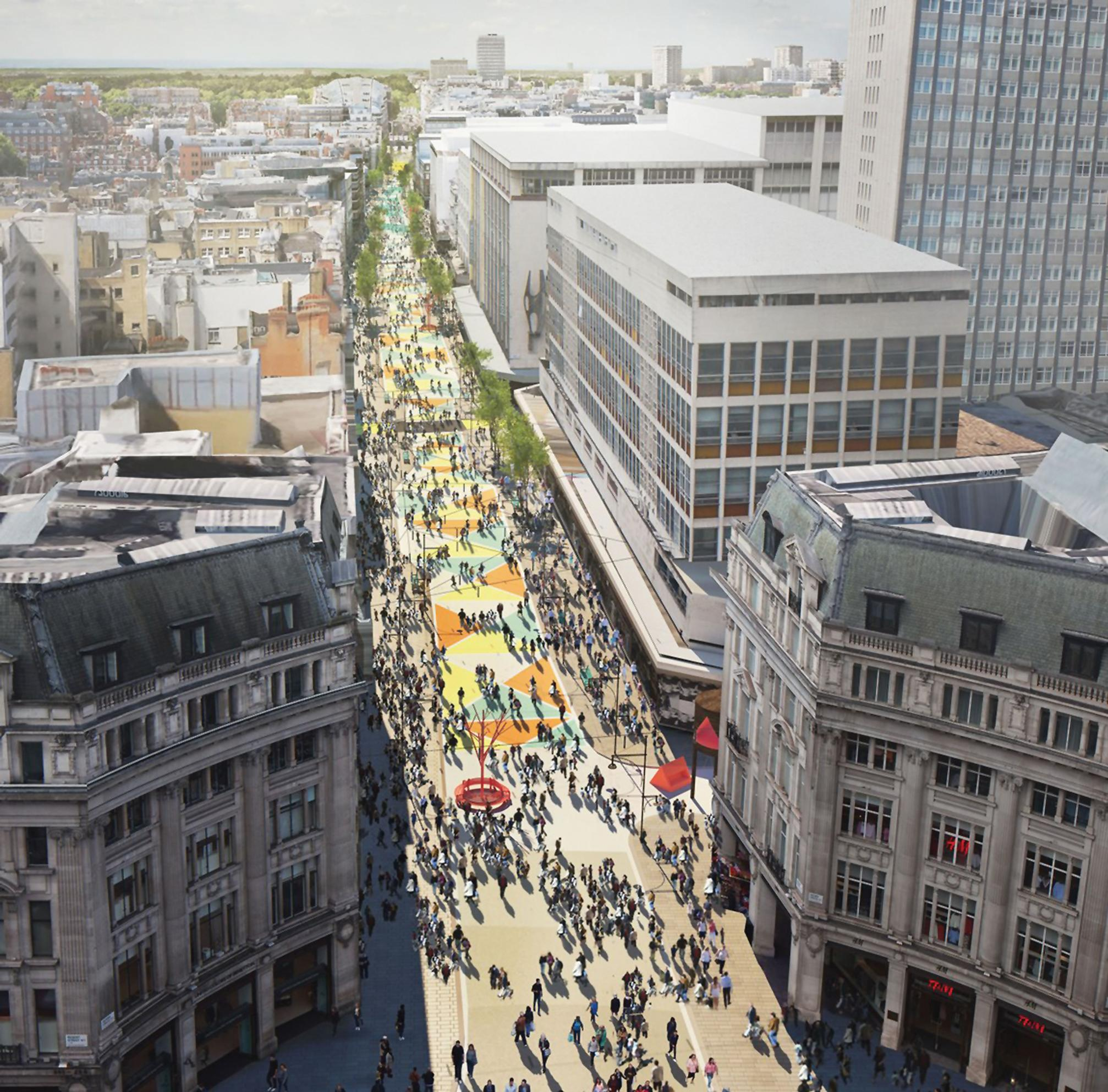 Oxford Street: mayor's vision blocked